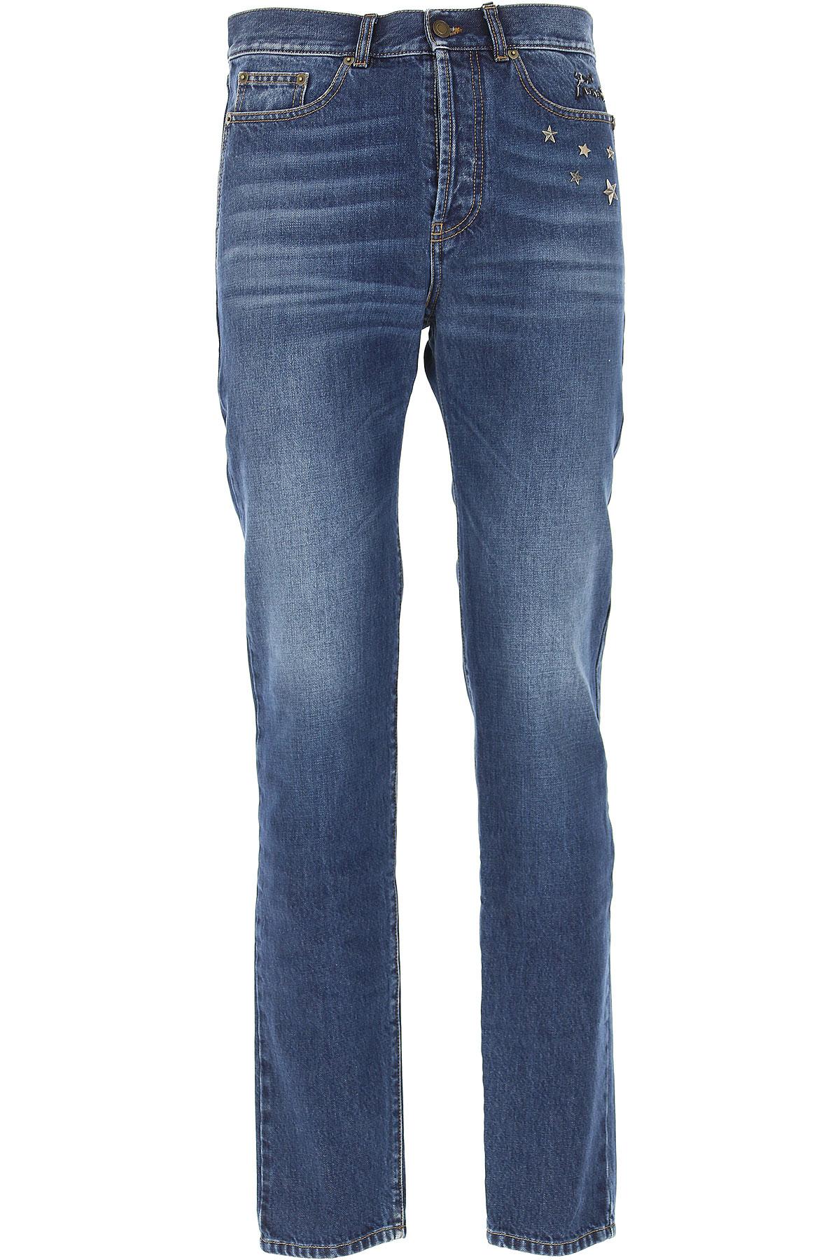 Yves Saint Laurent Jeans On Sale, Dark Blue, Cotton, 2017, 29 30 34