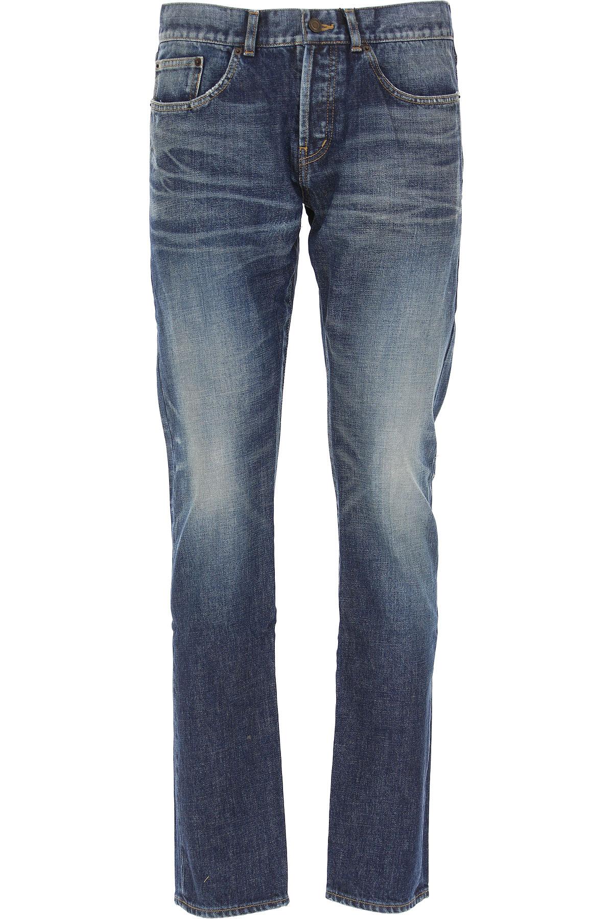 Yves Saint Laurent Jeans On Sale, Denim, Cotton, 2017, 30 31 32 33 34