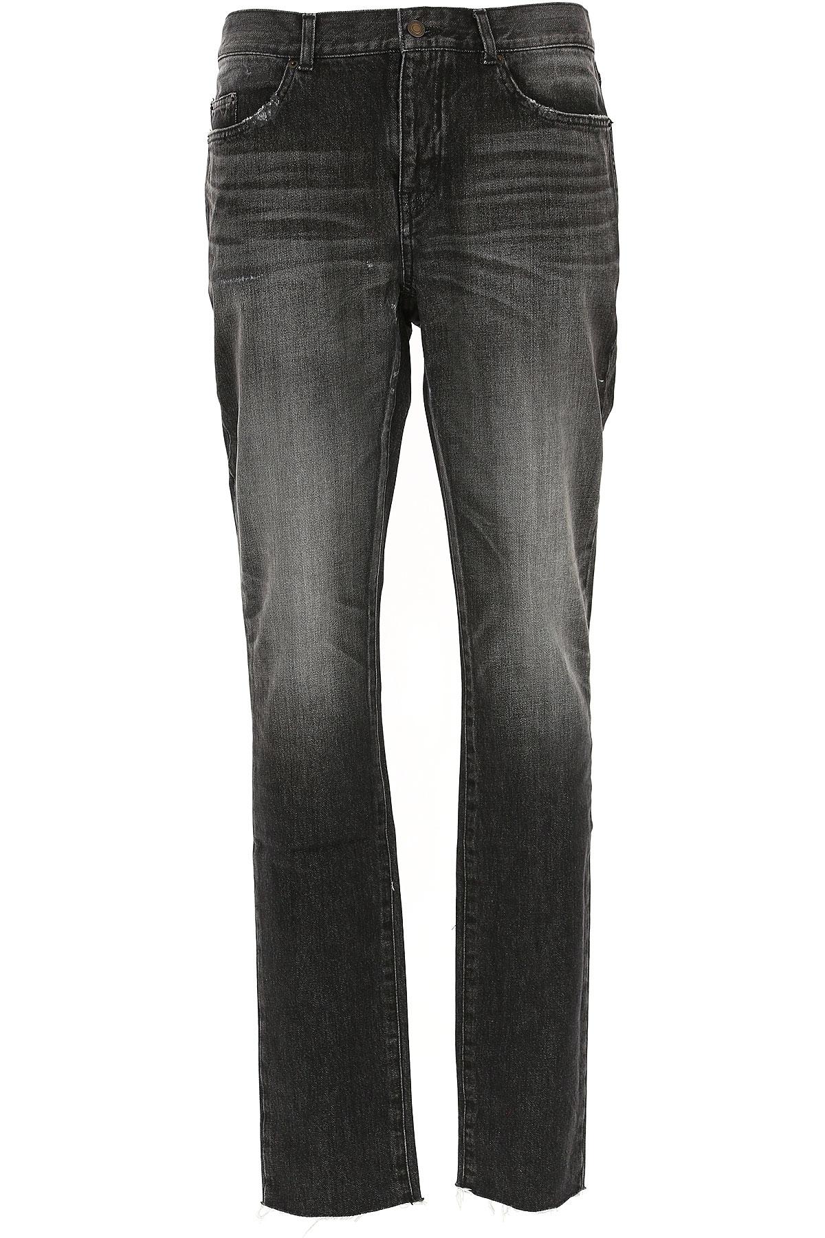 Yves Saint Laurent Jeans On Sale, Dirty Black, Cotton, 2017, 30 31 32 33 34