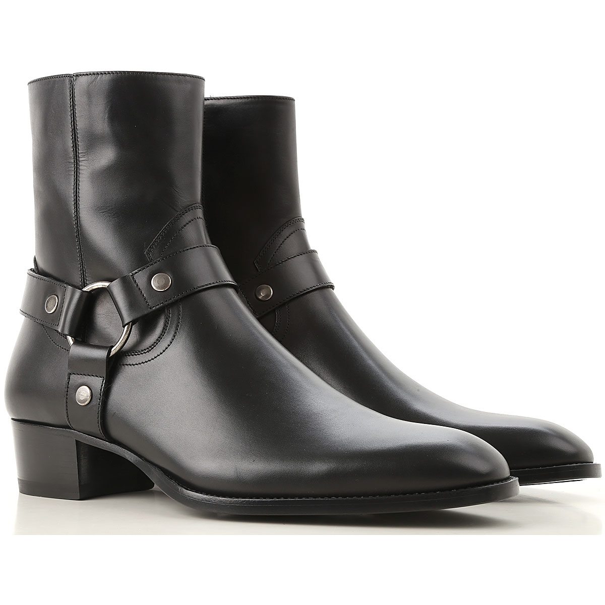 Image of Yves Saint Laurent Boots for Men, Booties, Black, Leather, 2017, 11.5 7.5 8 9
