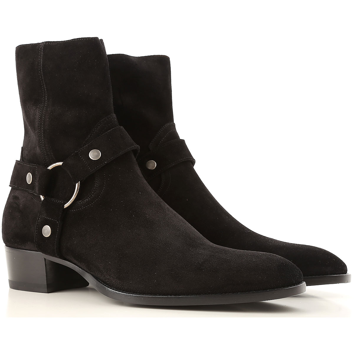 Image of Yves Saint Laurent Boots for Men, Booties, Black, Suede leather, 2017, 10 10.25 10.5 7.5 7.75 8 8.5 9 9.5