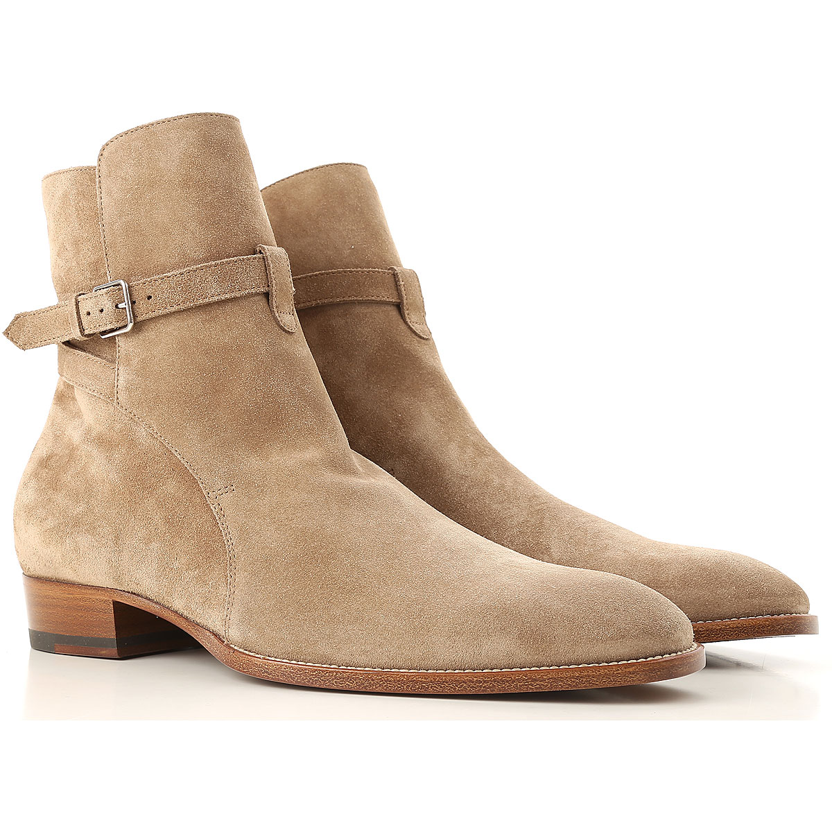 Image of Yves Saint Laurent Boots for Men, Booties, Cigar, suede, 2017, 10.5 7.5 8 8.5 9 9.5