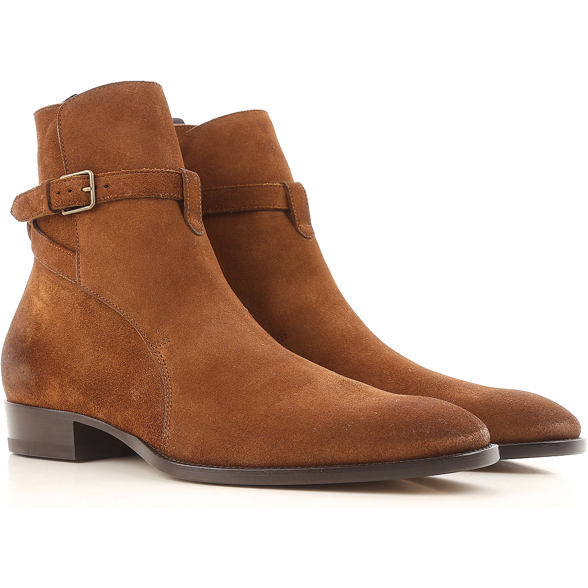 Image of Yves Saint Laurent Boots for Men, Booties, Landed, Suede leather, 2017, 8.5 9