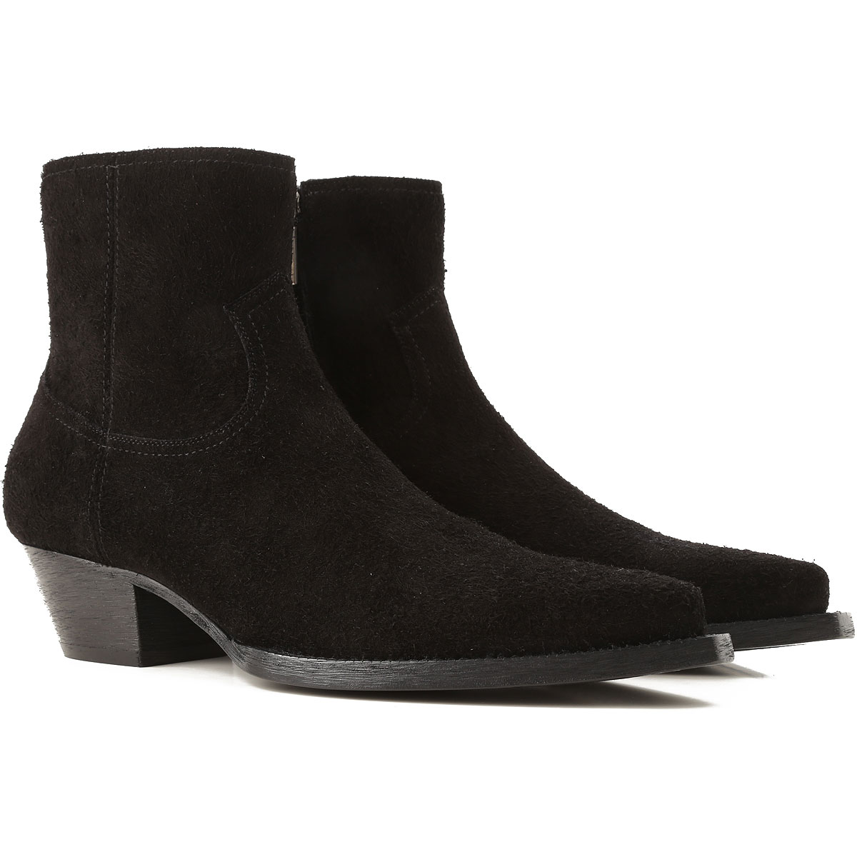 Image of Yves Saint Laurent Boots for Men, Booties, Black, suede, 2017, 10 10.5 7.5 8 8.5 9 9.5