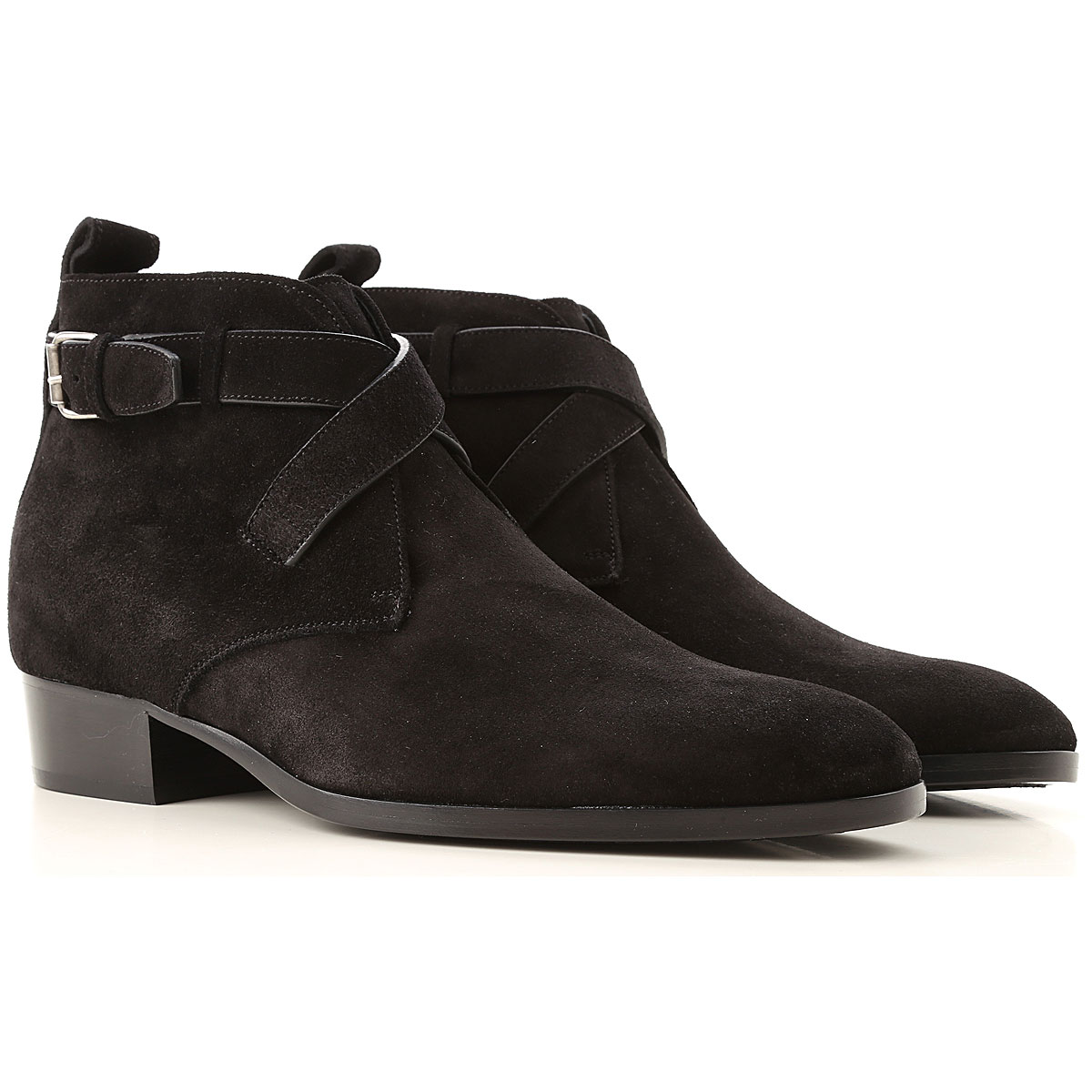 Yves Saint Laurent Boots for Men, Booties On Sale, Black, Suede leather, 2019, 10 10.25 10.5 7.5 7.75 8 8.5 9.5