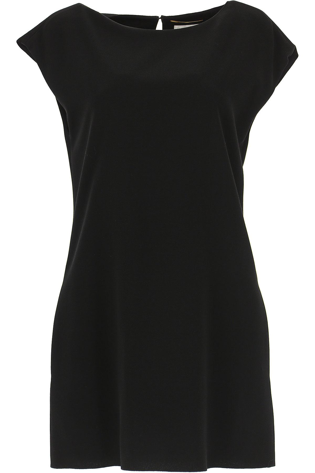 Yves Saint Laurent Robe Femme Pas cher en Soldes Outlet, Noir, Viscose, 2019, 38 40