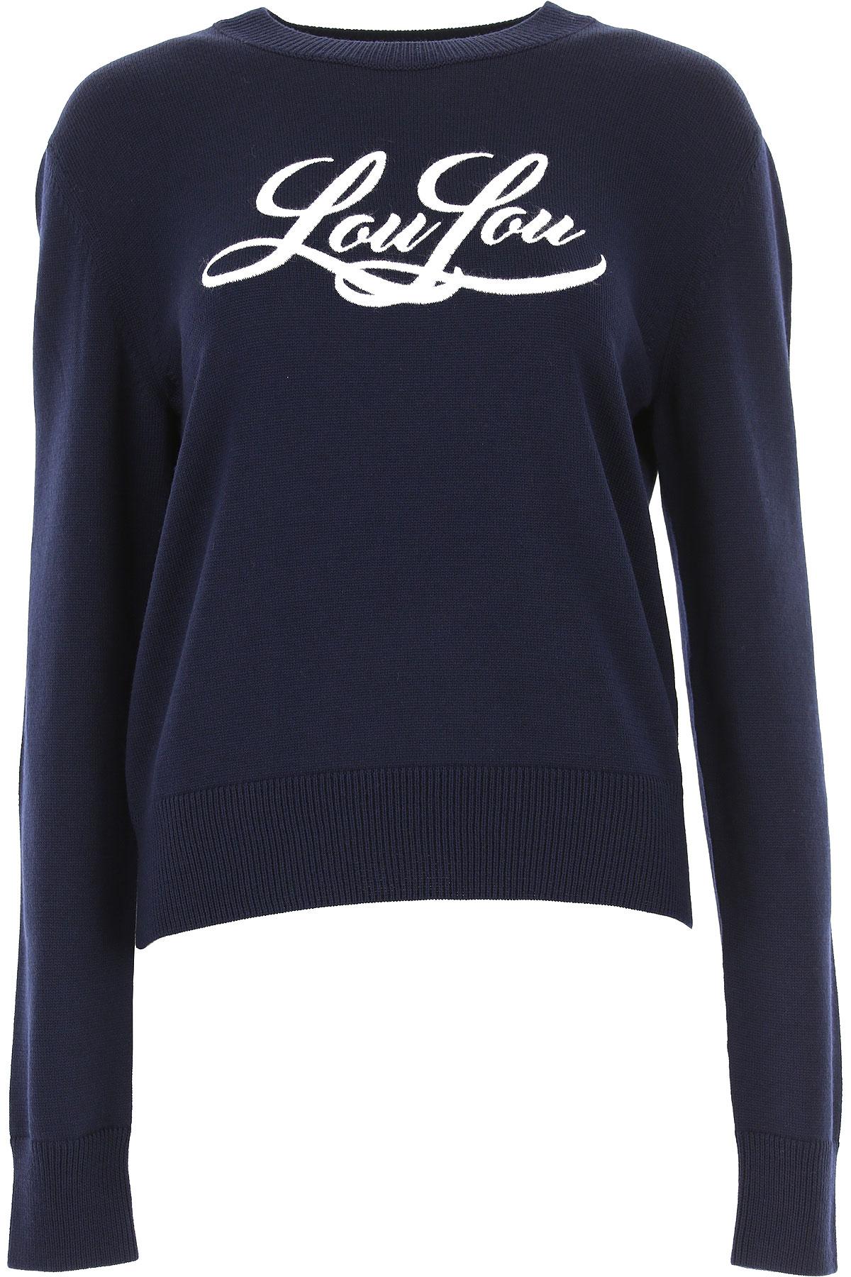 Yves Saint Laurent Pullover für Damen, Pulli Günstig im Outlet Sale, Dunkles Nachtblau, Wolle, 2019, 40 44 M