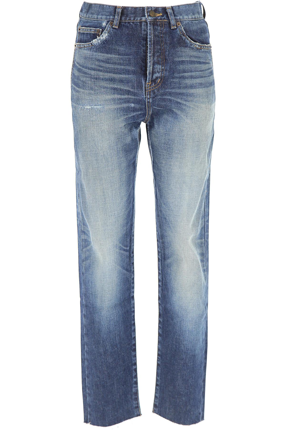 Yves Saint Laurent Jeans On Sale, Denim, Cotton, 2017, 25 26 27 28