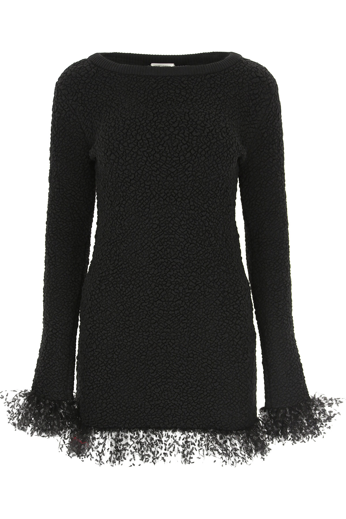Yves Saint Laurent Dress for Women, Evening Cocktail Party On Sale, Black, Silk, 2019, 4 6