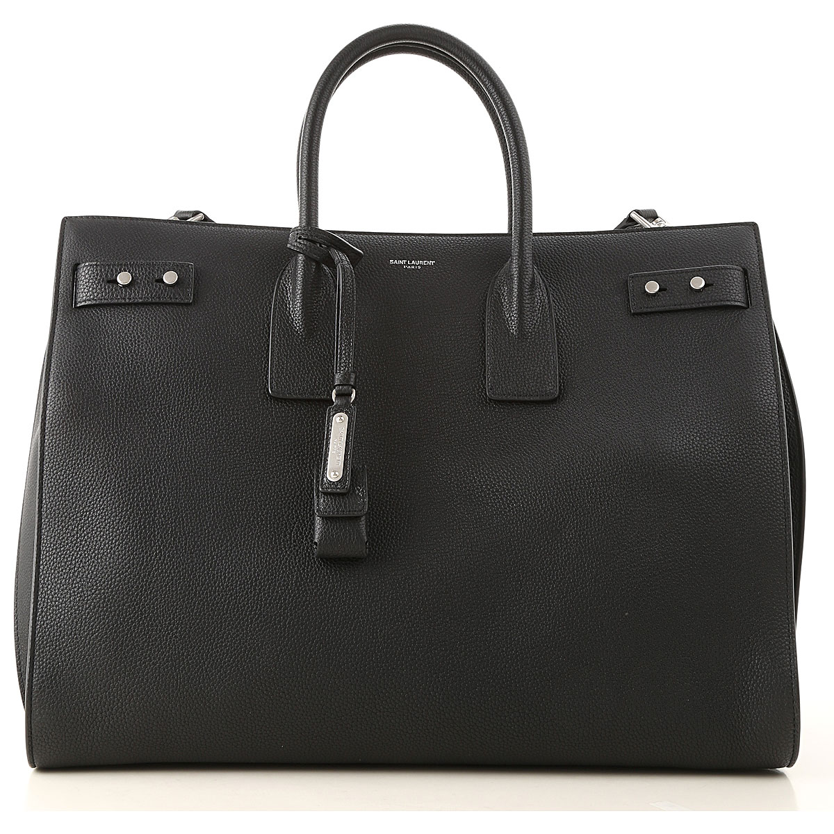 Yves Saint Laurent Briefcase for Men On Sale, Black, Leather, 2019