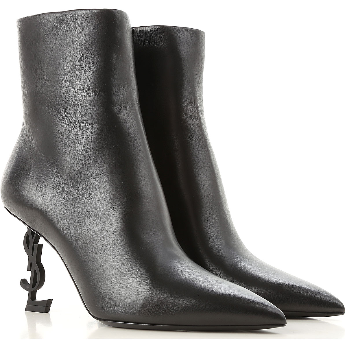 Yves Saint Laurent Boots for Women, Booties On Sale, Black, Leather, 2019, 10 5.5 6.5 7 8 8.5 9