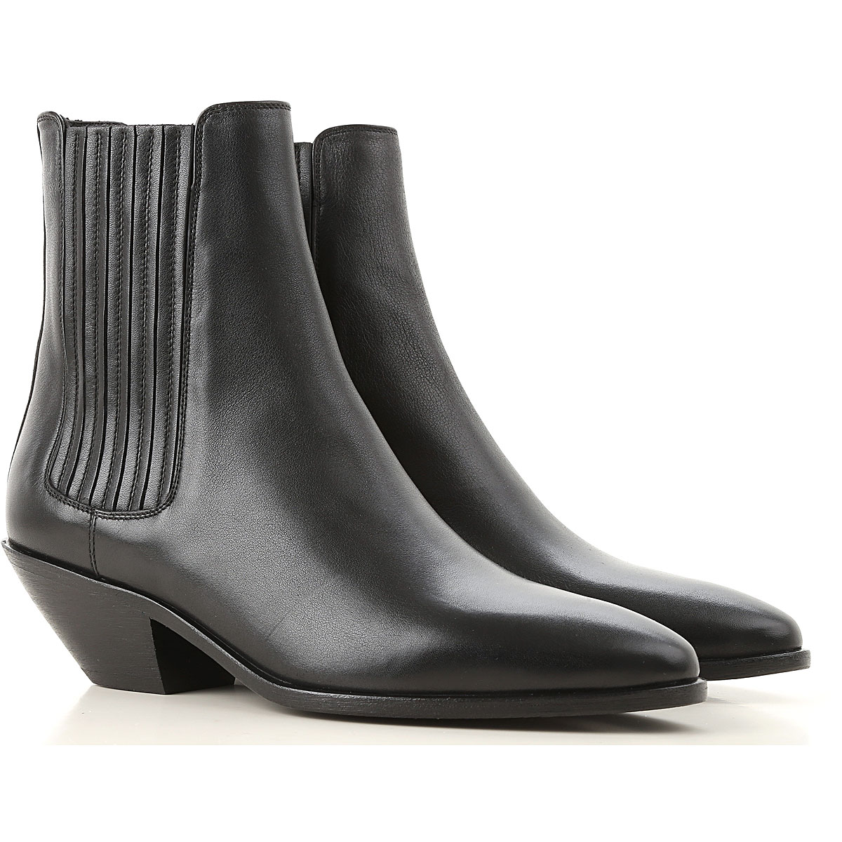 Yves Saint Laurent Boots for Women, Booties On Sale, Black, Leather, 2019, 10 5.5 6 7 8.5 9