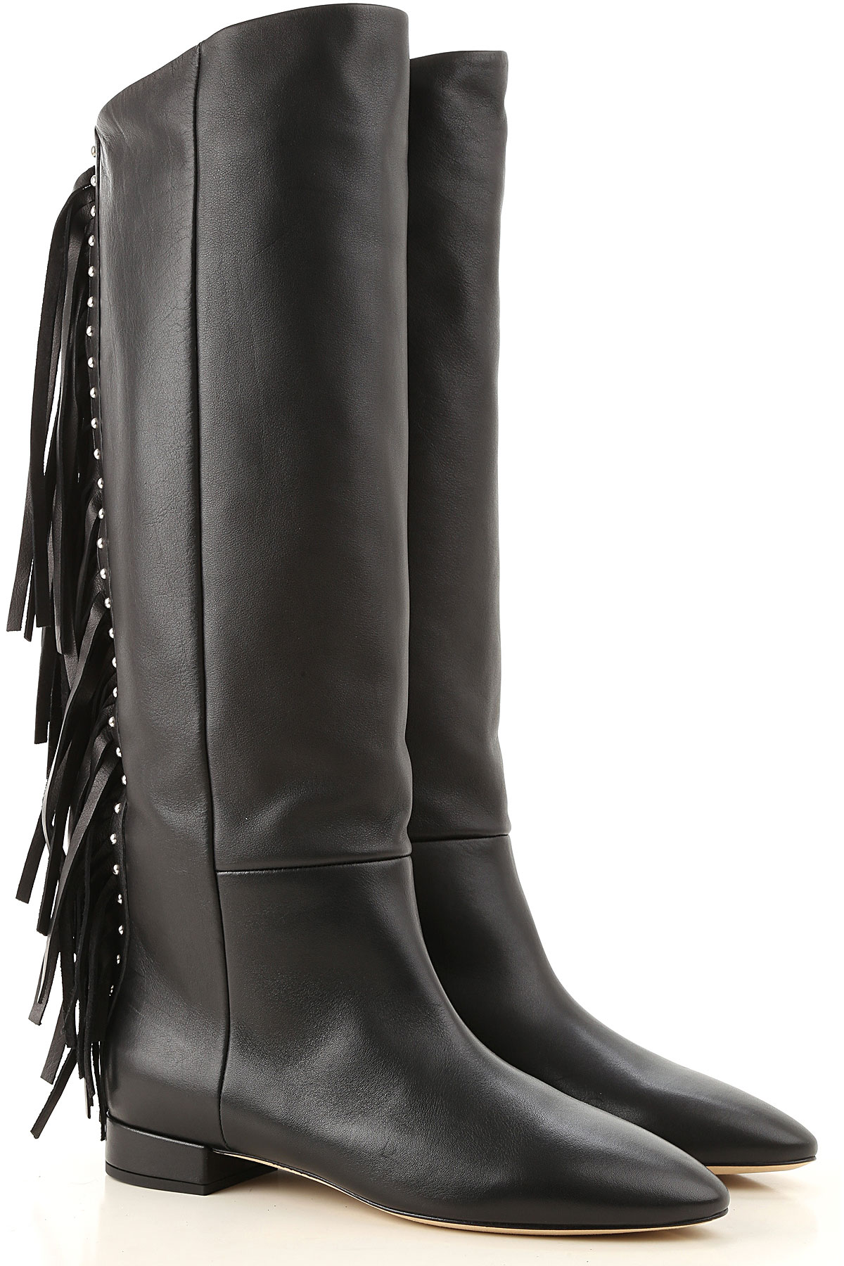 Yves Saint Laurent Boots for Women, Booties On Sale, Black, Leather, 2019, 7 8
