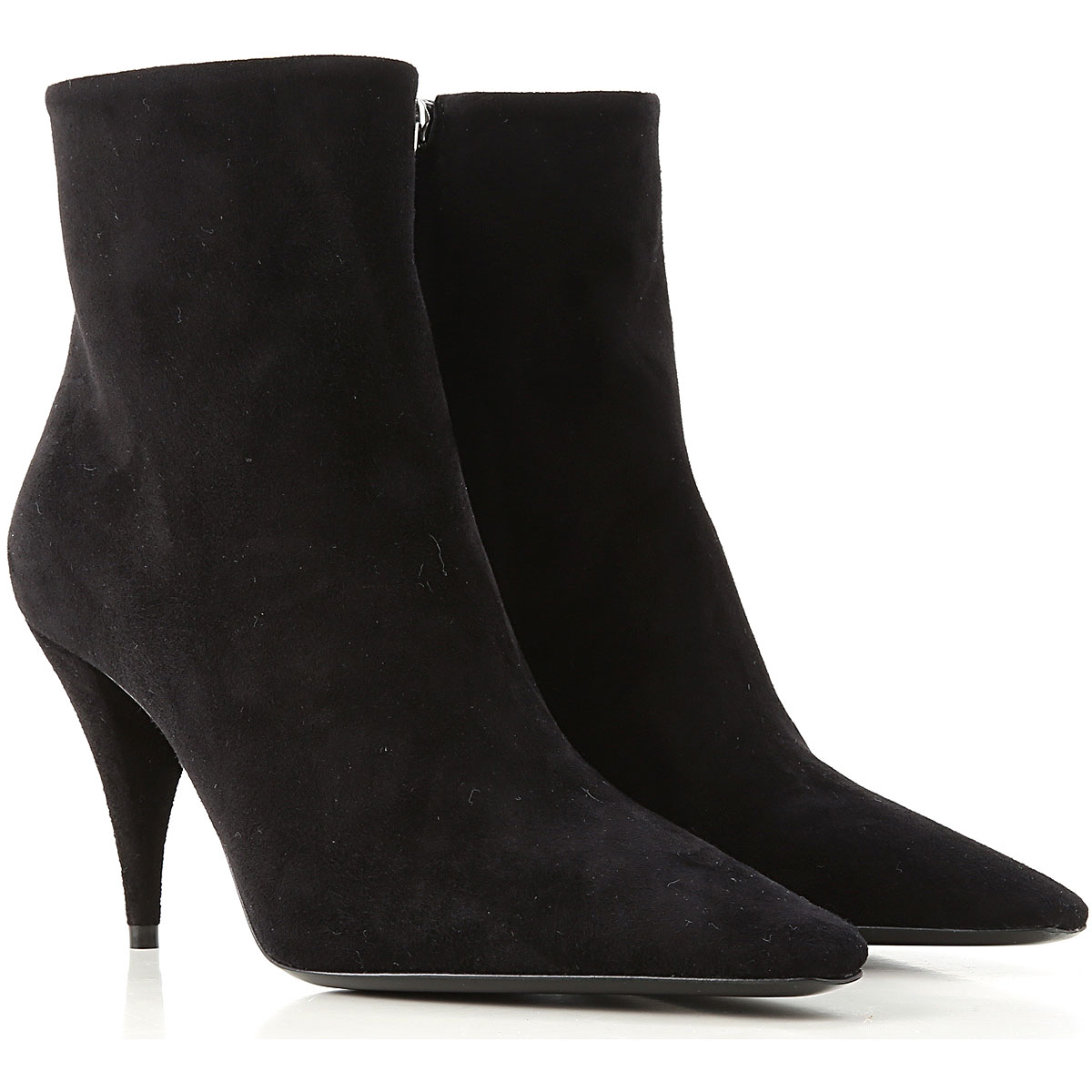 Yves Saint Laurent Boots for Women, Booties On Sale, Black, Suede leather, 2019, 11 7 8 8.5 9.5