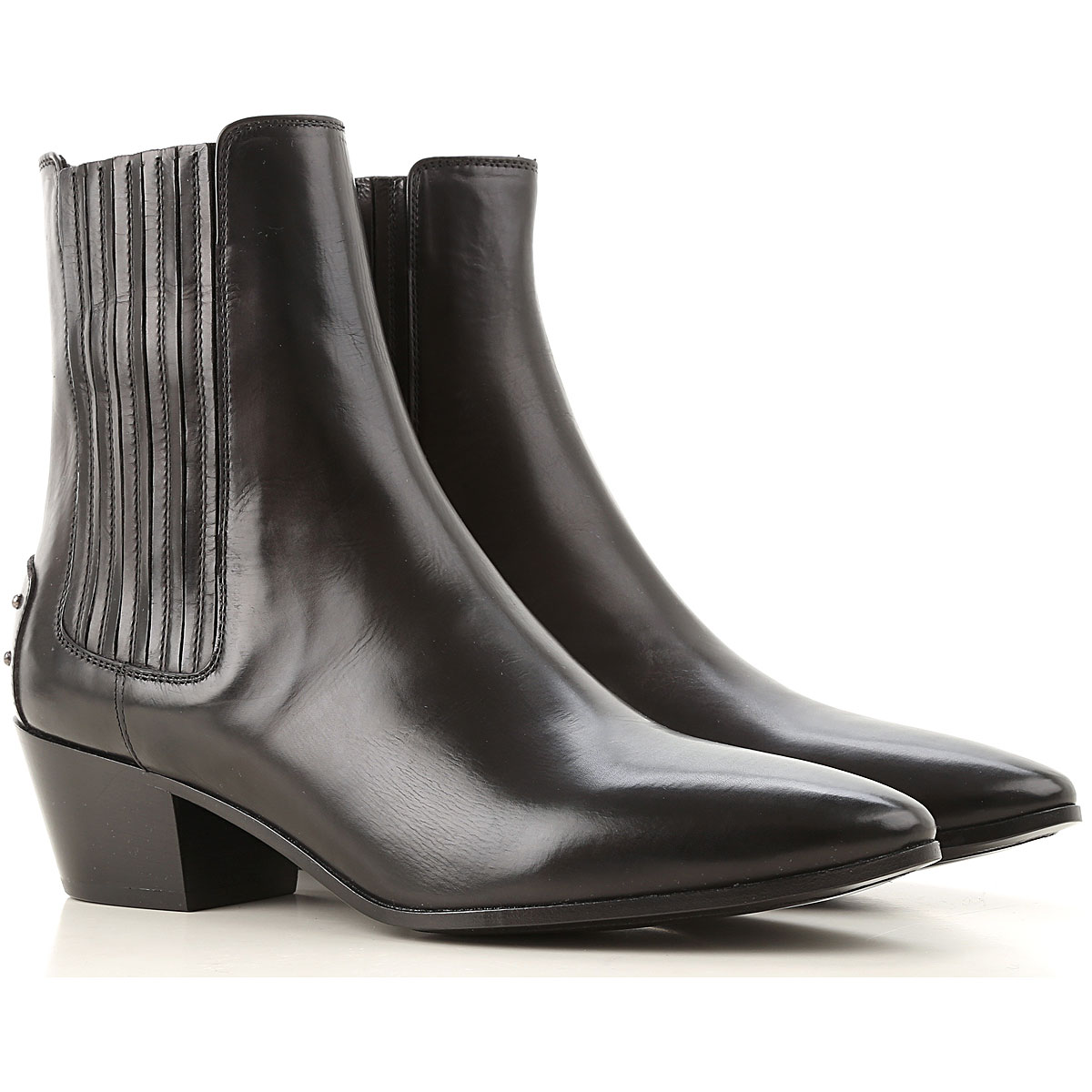 Yves Saint Laurent Chelsea Boots for Women On Sale, Black, Leather, 2019, 11 6 7