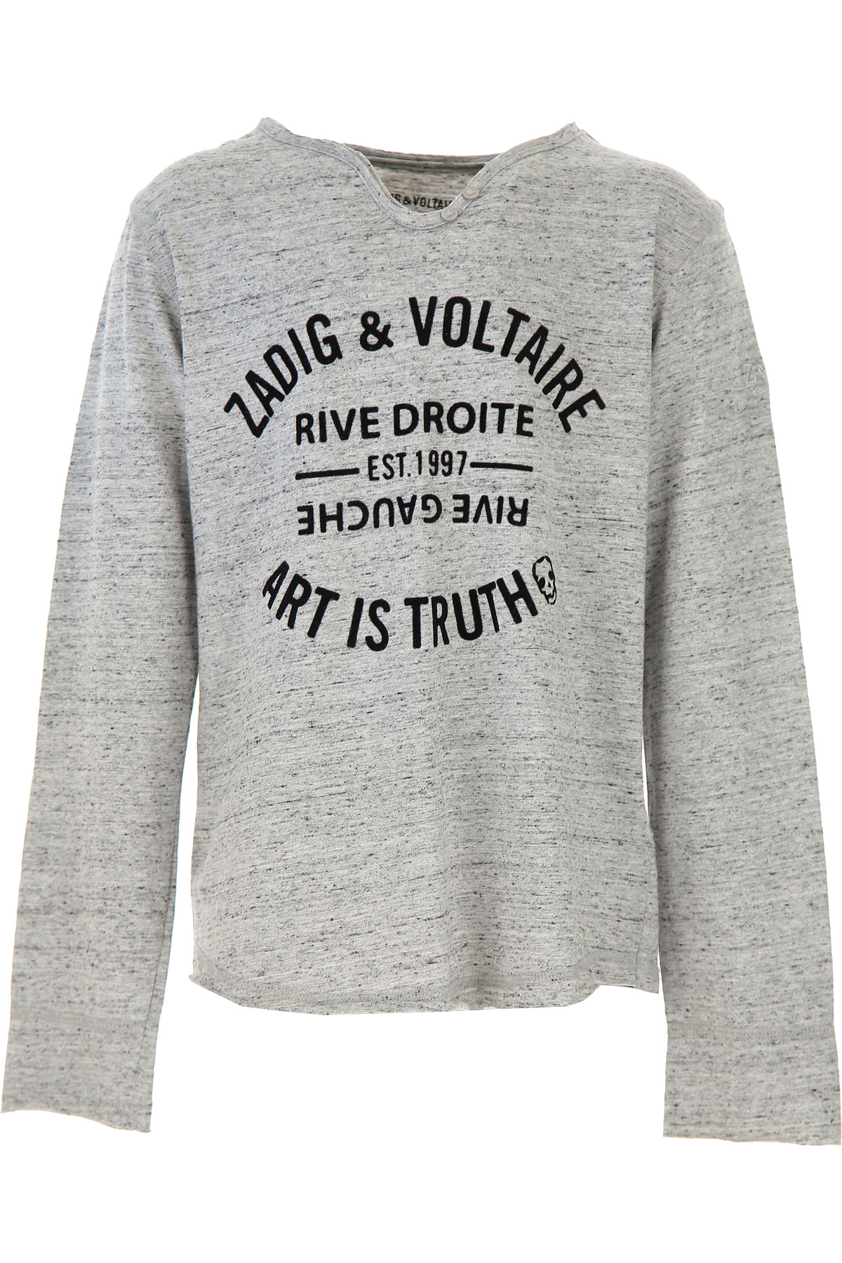 Zadig & Voltaire Kids T-Shirt for Boys On Sale, Grey, Cotton, 2019, 10Y 12Y 14Y 16Y 8Y