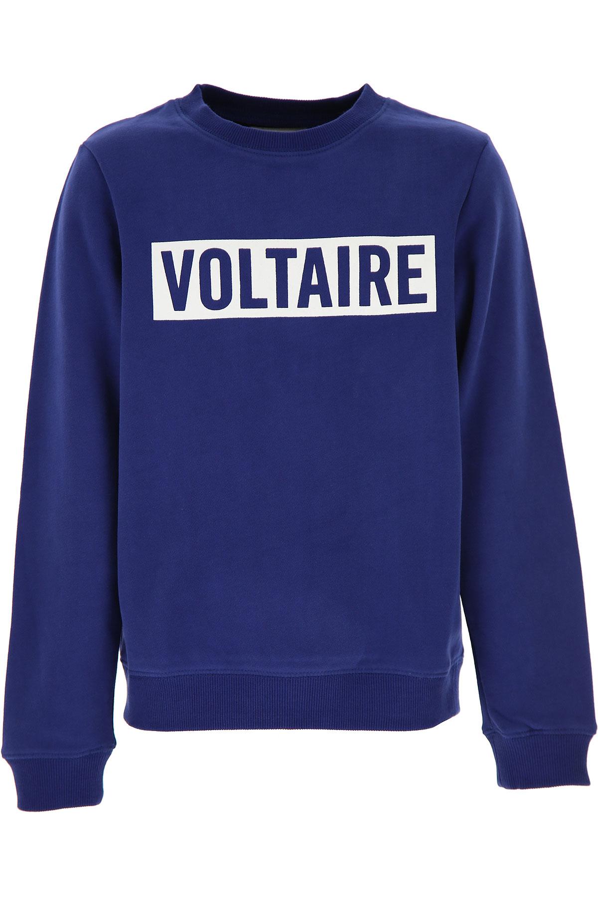 Zadig & Voltaire Kids Sweatshirts & Hoodies for Boys On Sale, Blue, Cotton, 2019, 10Y 12Y 14Y 8Y