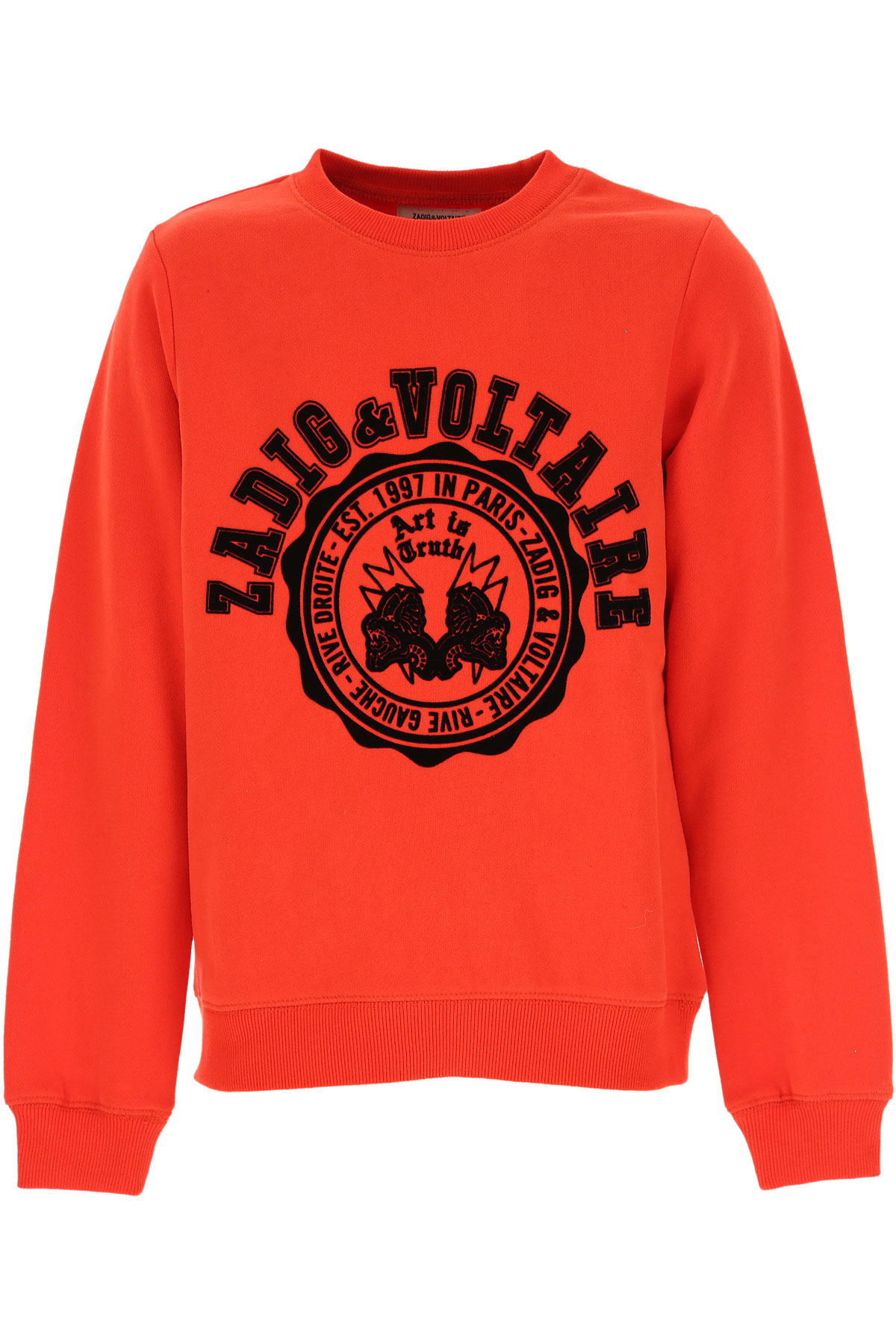 Zadig & Voltaire Kids Sweatshirts & Hoodies for Boys On Sale, Red, Cotton, 2019, 10Y 12Y 14Y 8Y