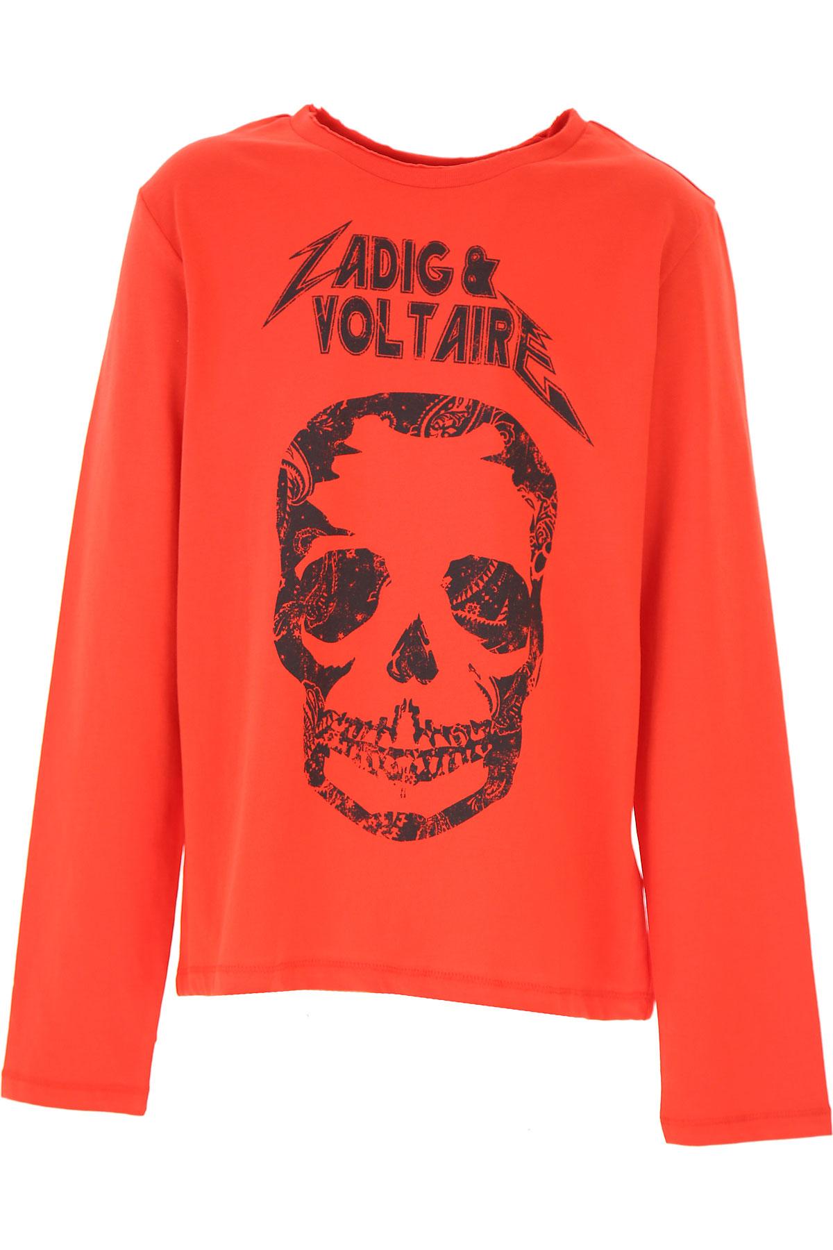 Zadig & Voltaire Kids T-Shirt for Boys On Sale, Red, Cotton, 2019, 10Y 12Y 14Y 16Y 8Y