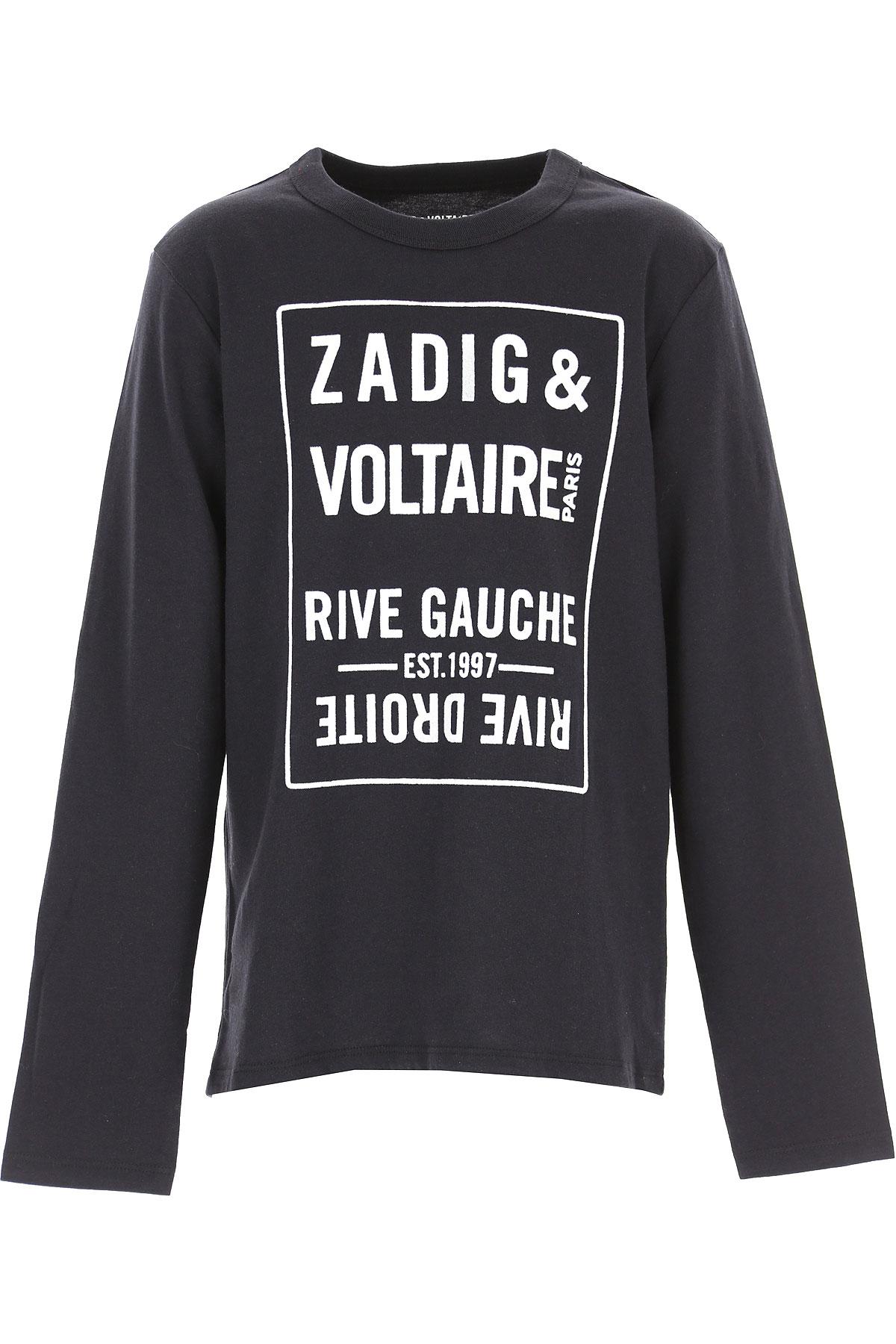 Zadig & Voltaire Kids T-Shirt for Boys On Sale, Black, Cotton, 2019, 10Y 12Y 14Y 16Y 8Y
