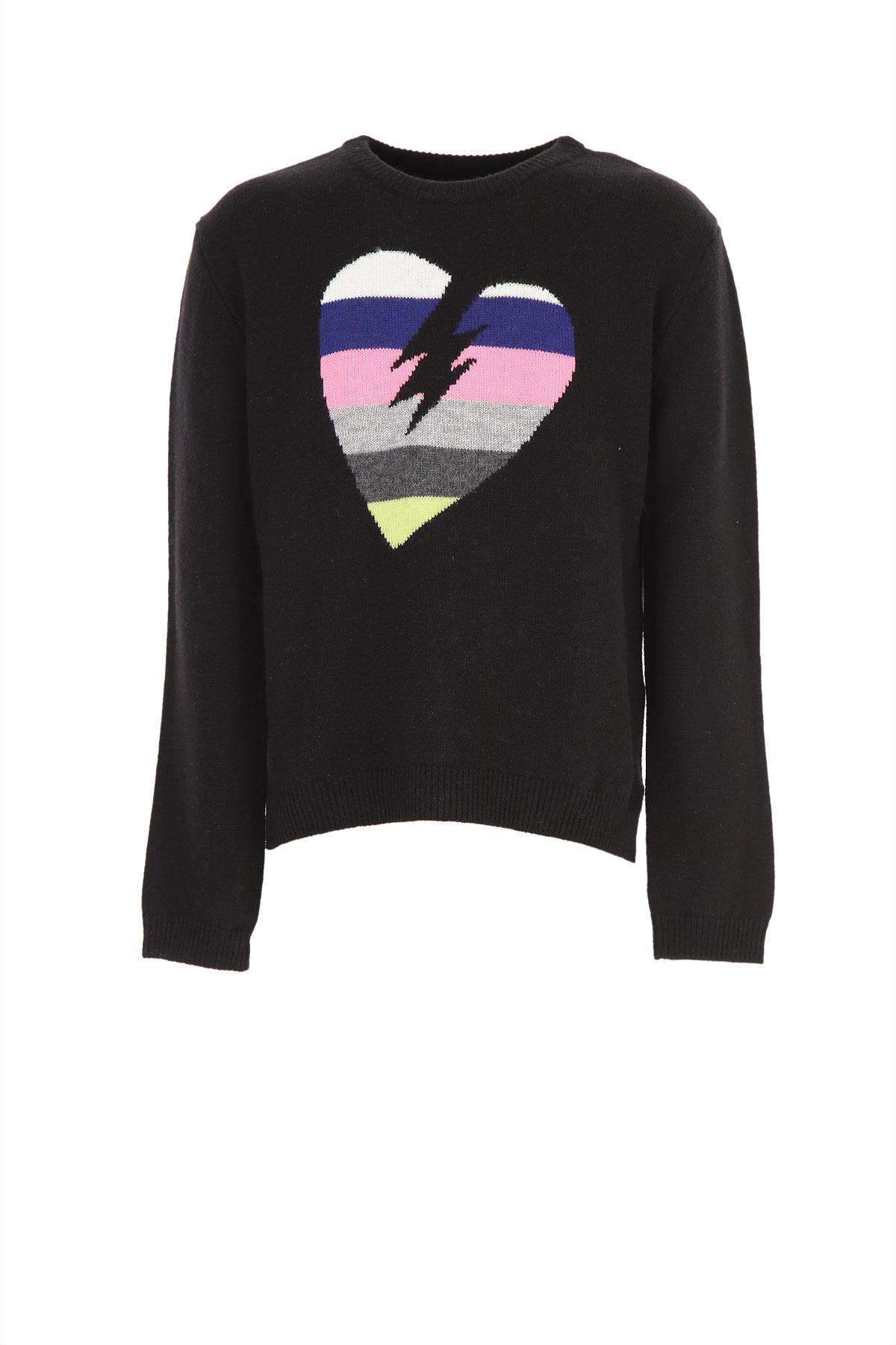 Zadig & Voltaire Kids Sweaters for Girls On Sale, Black, Wool, 2019, 10Y 12Y 14Y 16Y 8Y