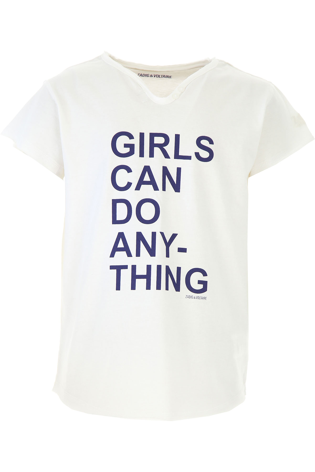 Zadig & Voltaire Kids T-Shirt for Girls On Sale, White, Cotton, 2019, 10Y 12Y 16Y 8Y