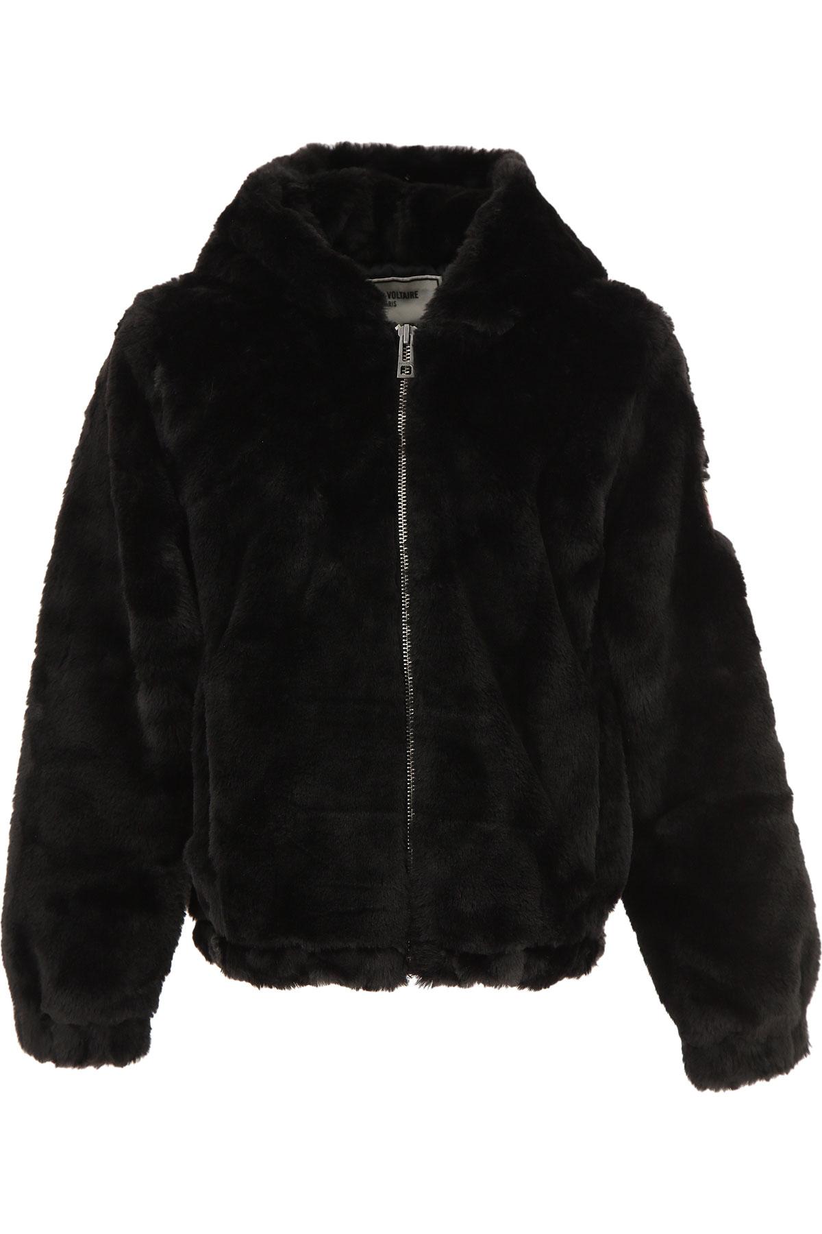 Zadig & Voltaire Kids Jacket for Girls On Sale, Black, polyester, 2019, 10Y 12Y 14Y 16Y 8Y