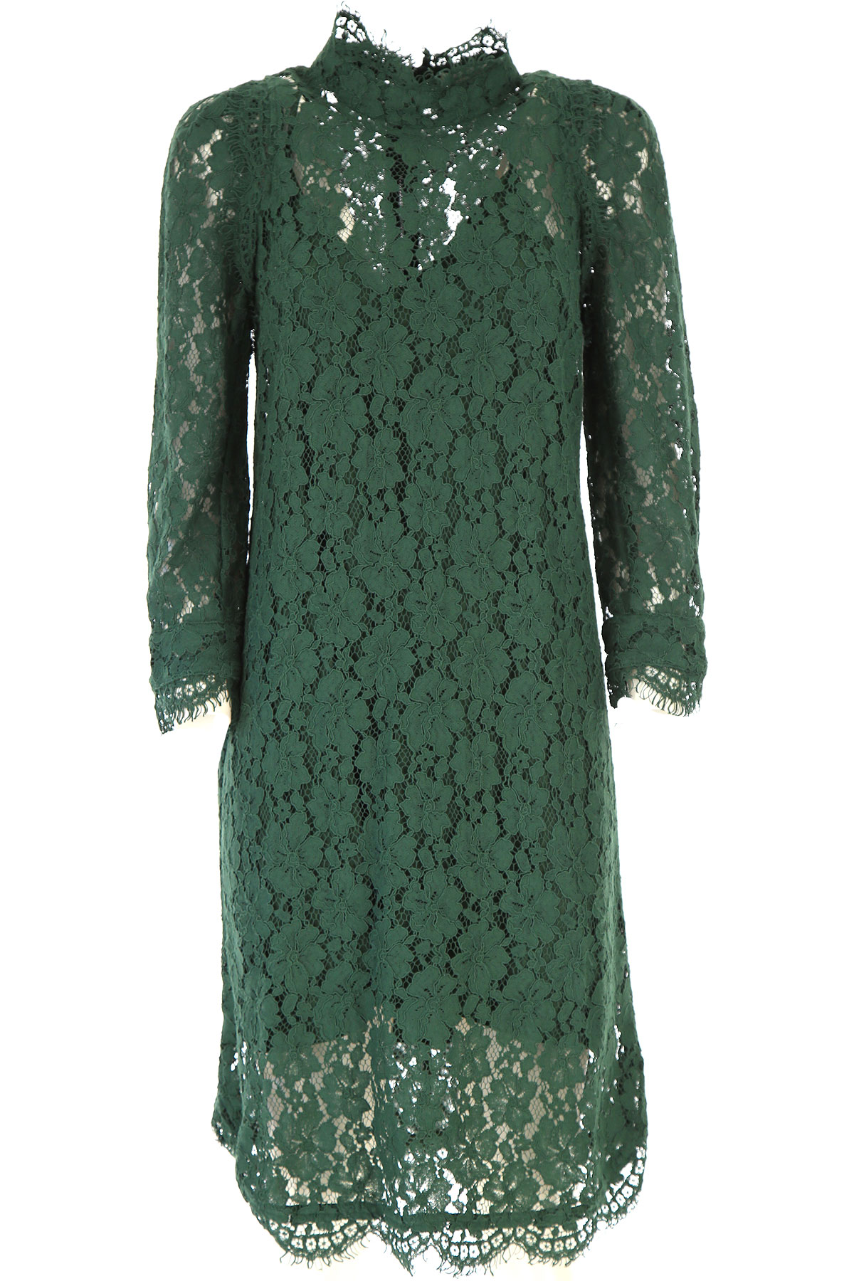 Zadig & Voltaire Dress for Women, Evening Cocktail Party On Sale, Forest Green, Cotton, 2019, 4 6