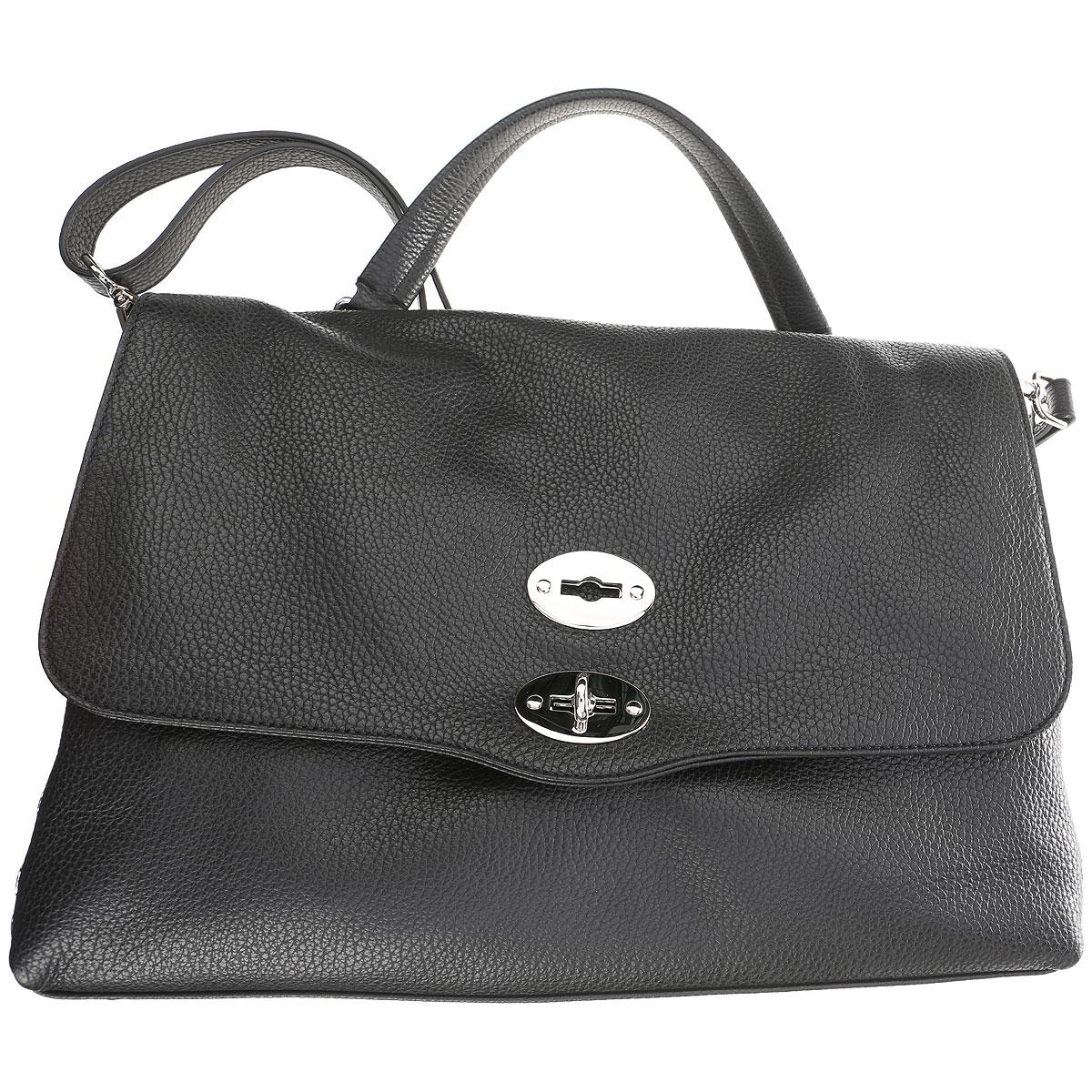 Image of Zanellato Shoulder Bag for Women, Black, Leather, 2017