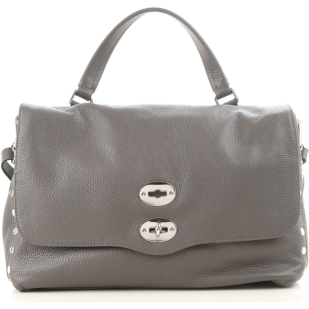 Image of Zanellato Shoulder Bag for Women, Grey, Leather, 2017
