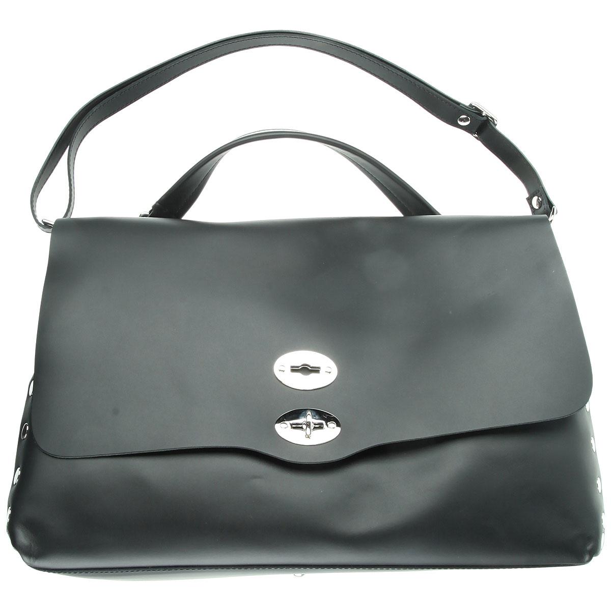 Image of Zanellato Top Handle Handbag, Black, Leather, 2017