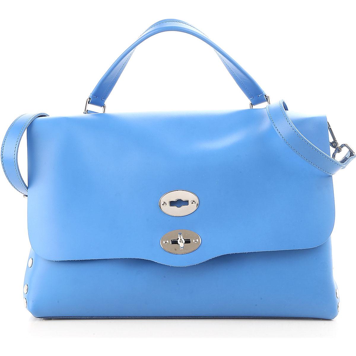 Image of Zanellato Handbags On Sale, Postina M, Blue, Leather, 2017