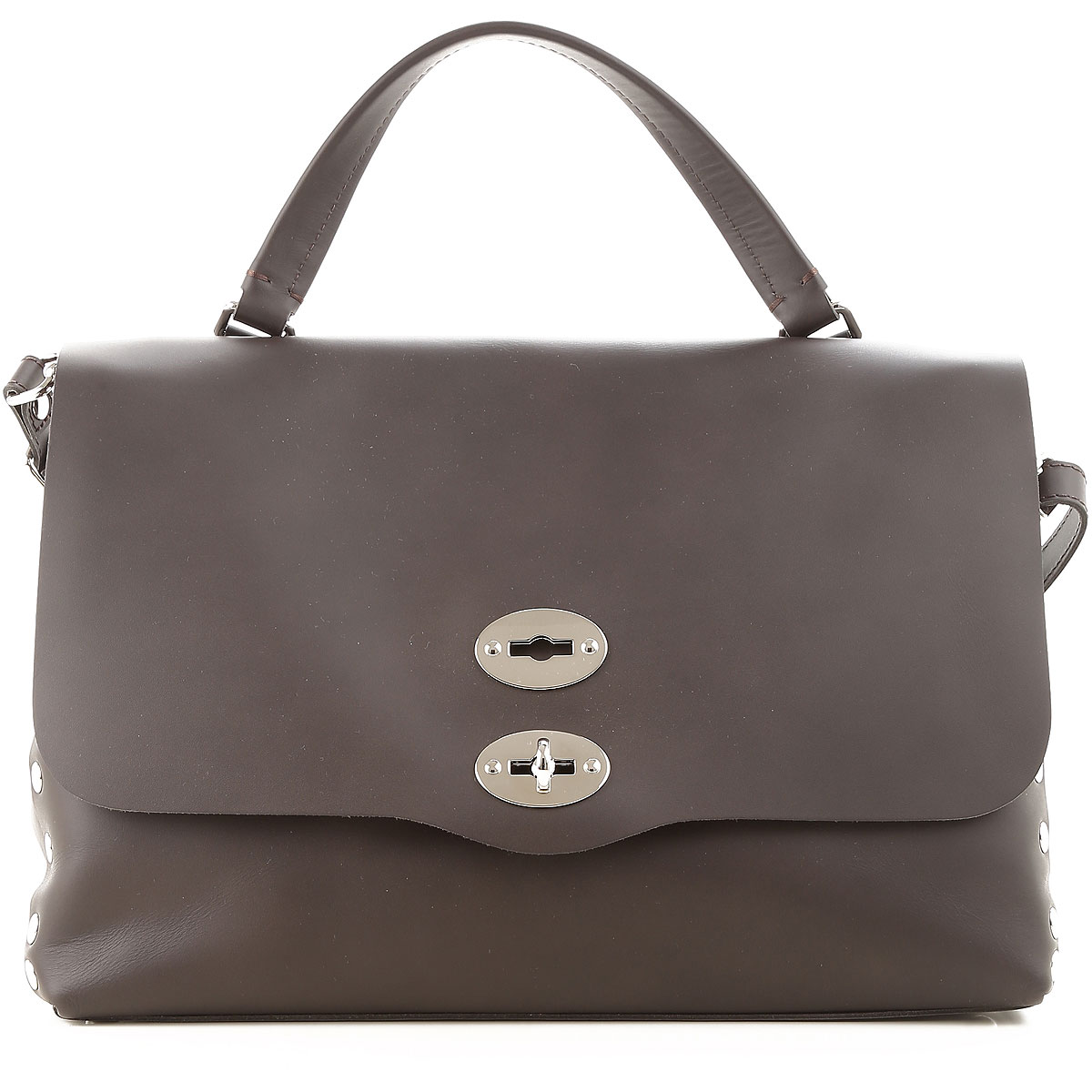 Image of Zanellato Handbags, Postina M, Ardesia Grey, Leather, 2017