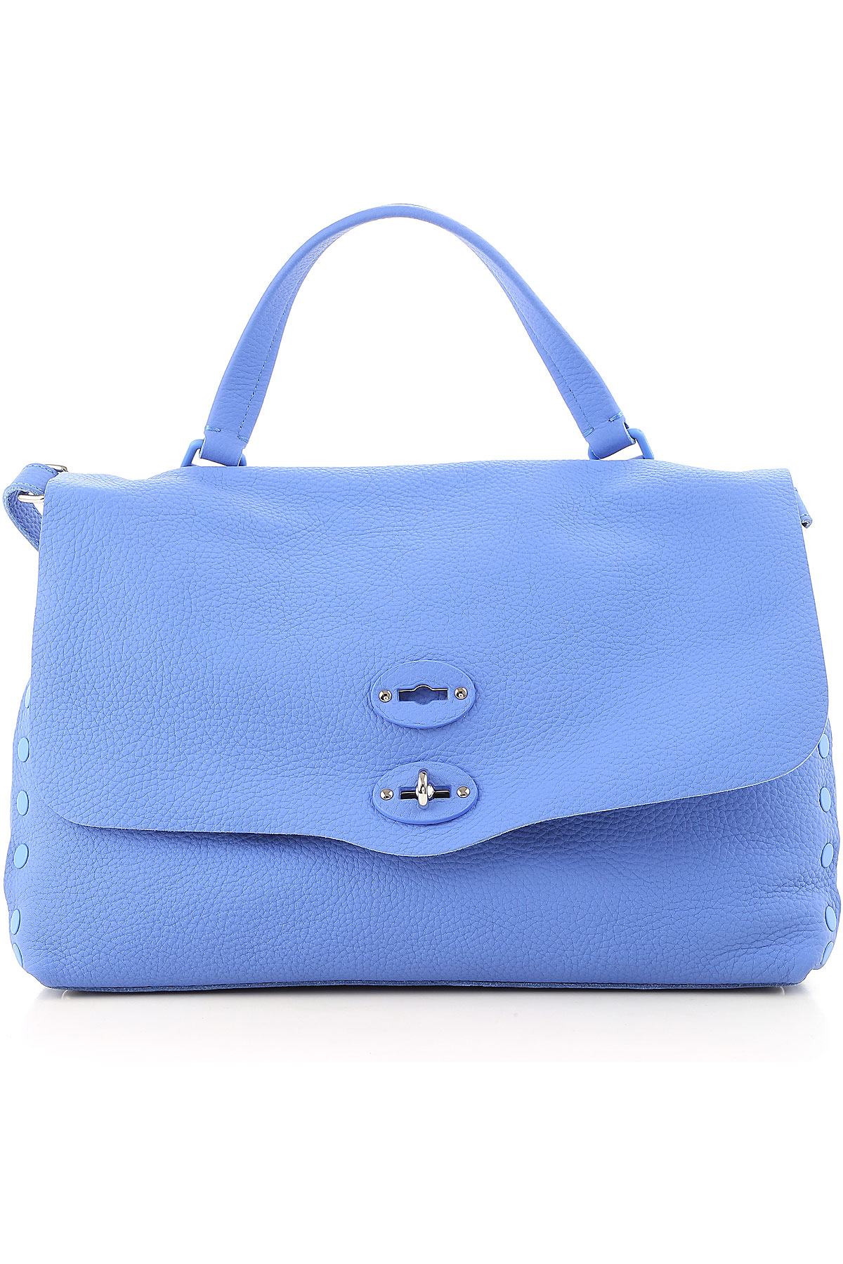 Image of Zanellato Shoulder Bag for Women On Sale, Marocain Blue, Leather, 2017