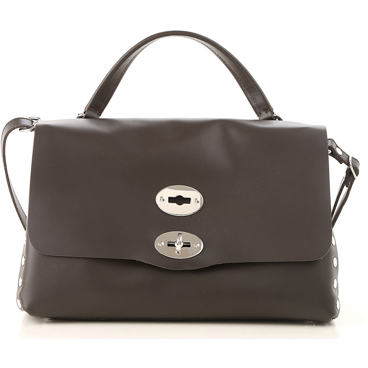Image of Zanellato Shoulder Bag for Women, Ebony, Leather, 2017