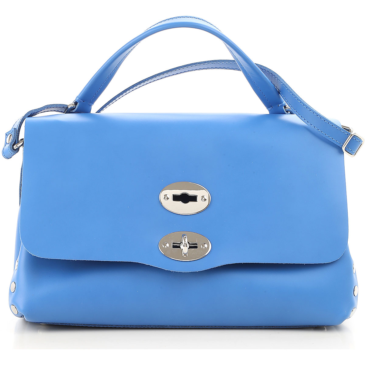 Image of Zanellato Shoulder Bag for Women On Sale, Blue Sea, Leather, 2017