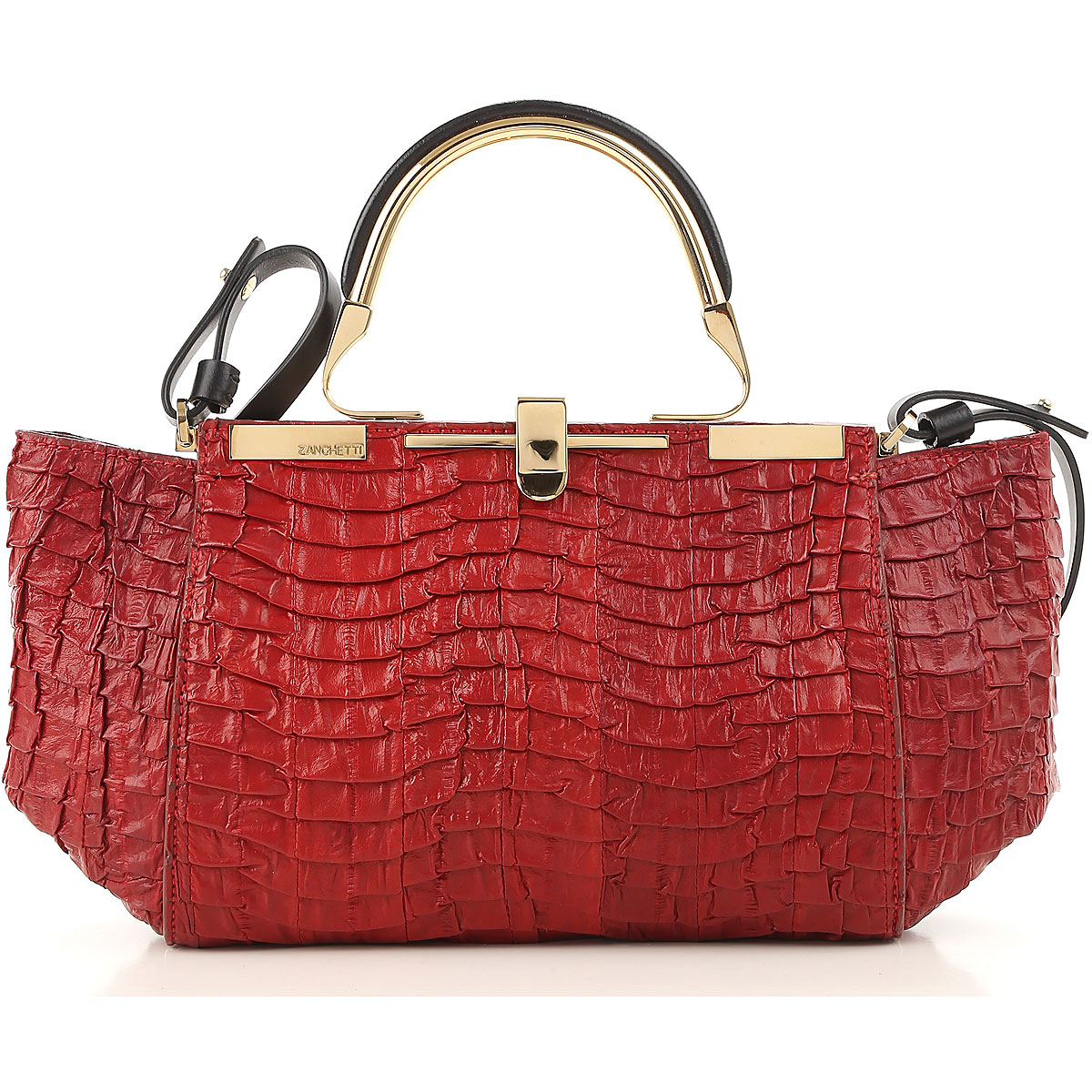 Image of Zanchetti Shoulder Bag for Women On Sale, Red, Leather, 2017