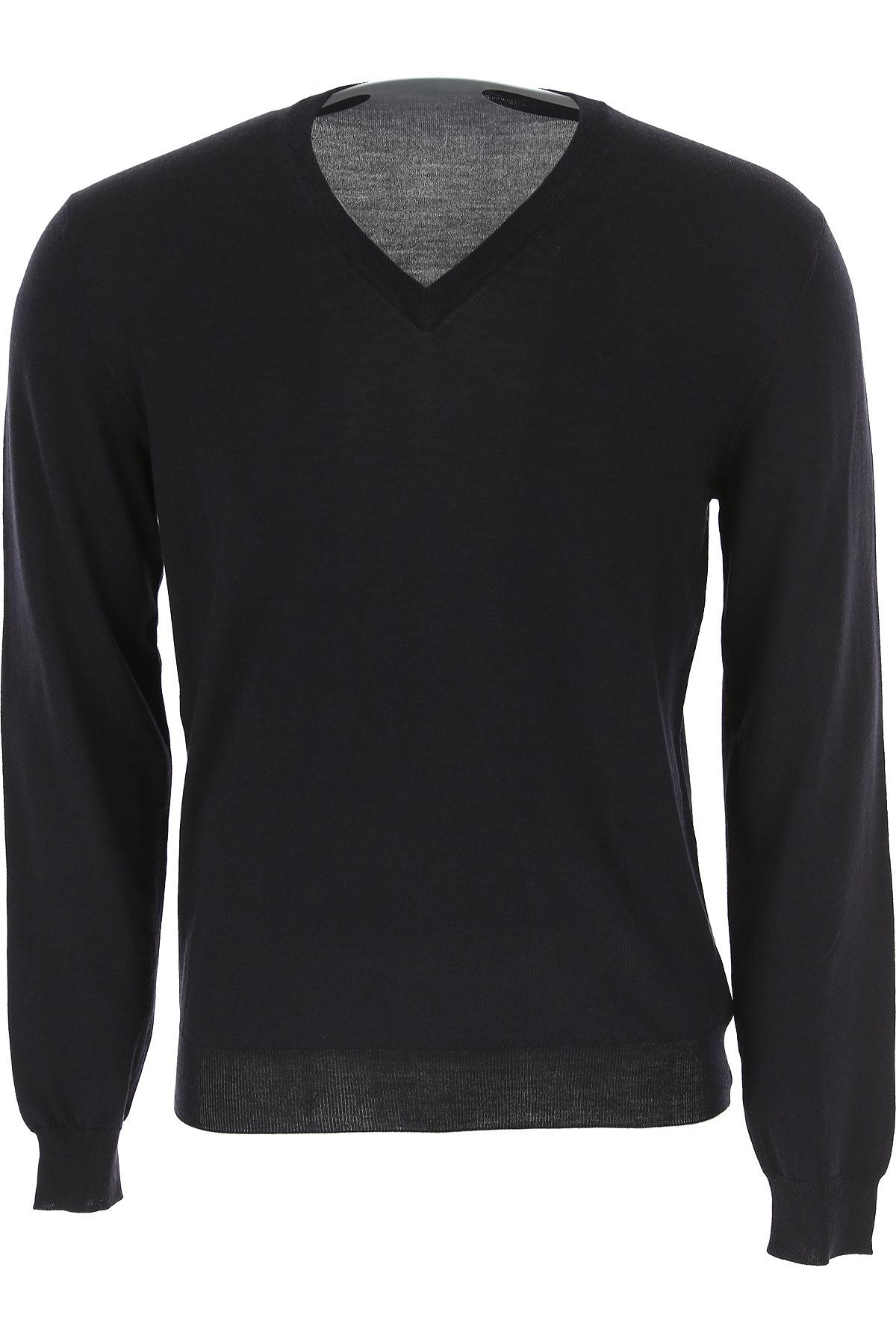 Zanone Sweater for Men Jumper On Sale, Black, Wool, 2019, M S