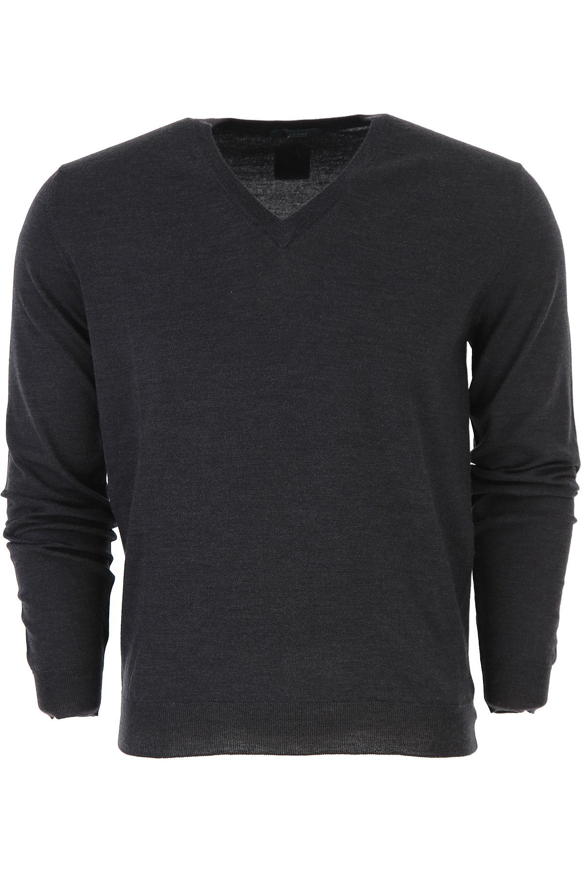 Zanone Sweater for Men Jumper On Sale, Dark Anthracite Grey, Virgin wool, 2019, L M S