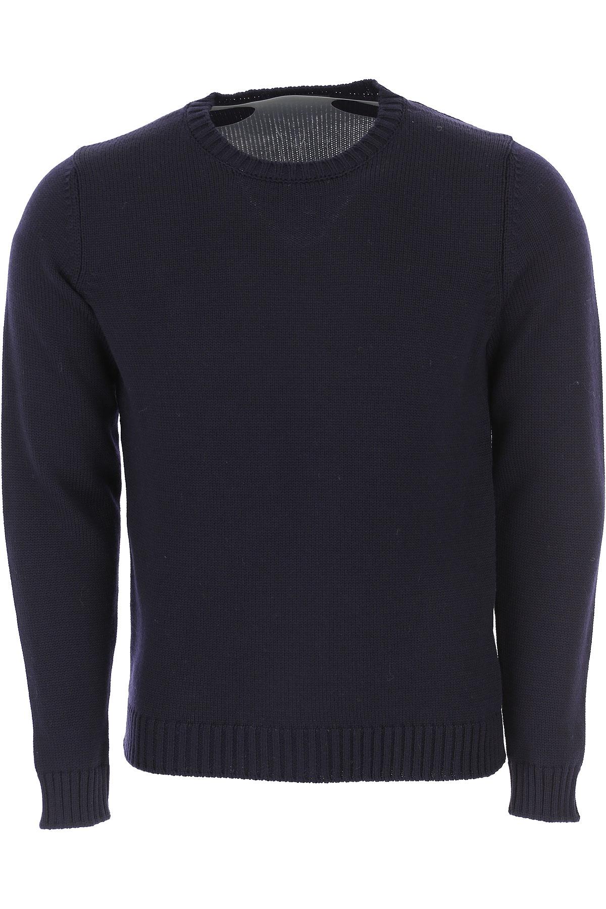 Zanone Sweater for Men Jumper On Sale, Navy Blue, Virgin wool, 2019, L M XL
