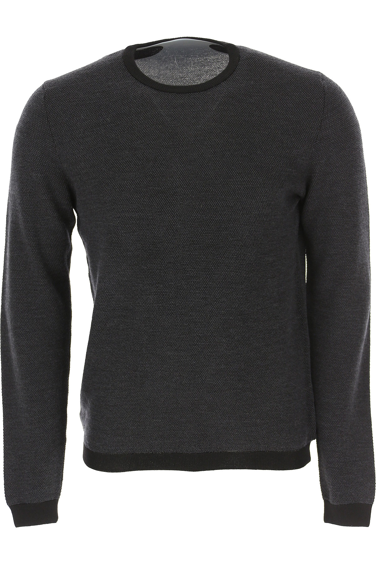 Zanone Sweater for Men Jumper On Sale, Anthracite Grey, Virgin wool, 2019, L M S