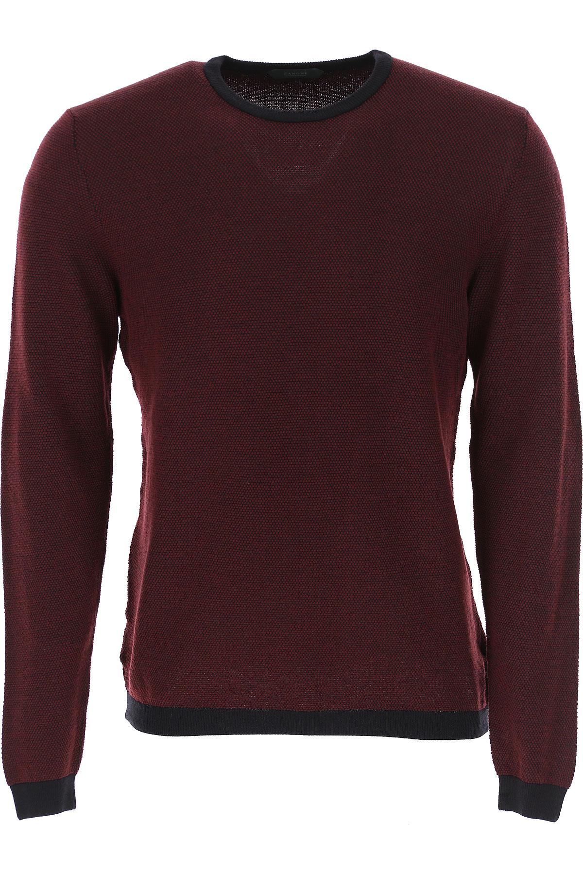 Zanone Sweater for Men Jumper On Sale, Bordeaux, Virgin wool, 2019, L M S