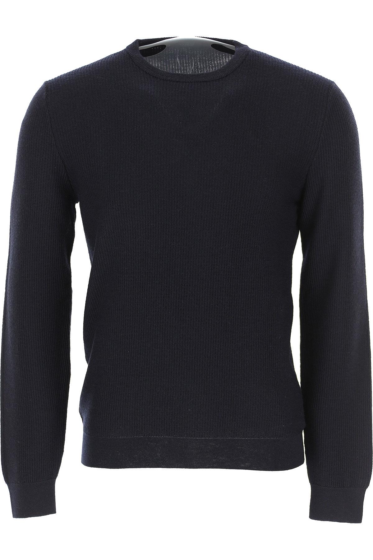 Zanone Sweater for Men Jumper On Sale, Dark Blue Navy, Virgin wool, 2019, L M S