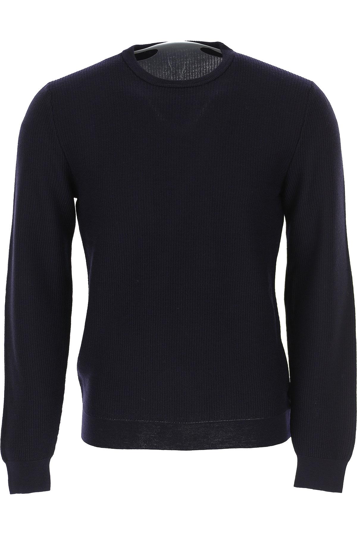 Zanone Sweater for Men Jumper On Sale, Midnight Blue, Virgin wool, 2019, L M S