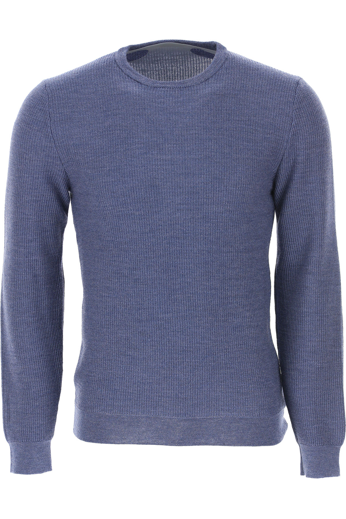 Zanone Sweater for Men Jumper On Sale, Blue Denim, Virgin wool, 2019, L M S