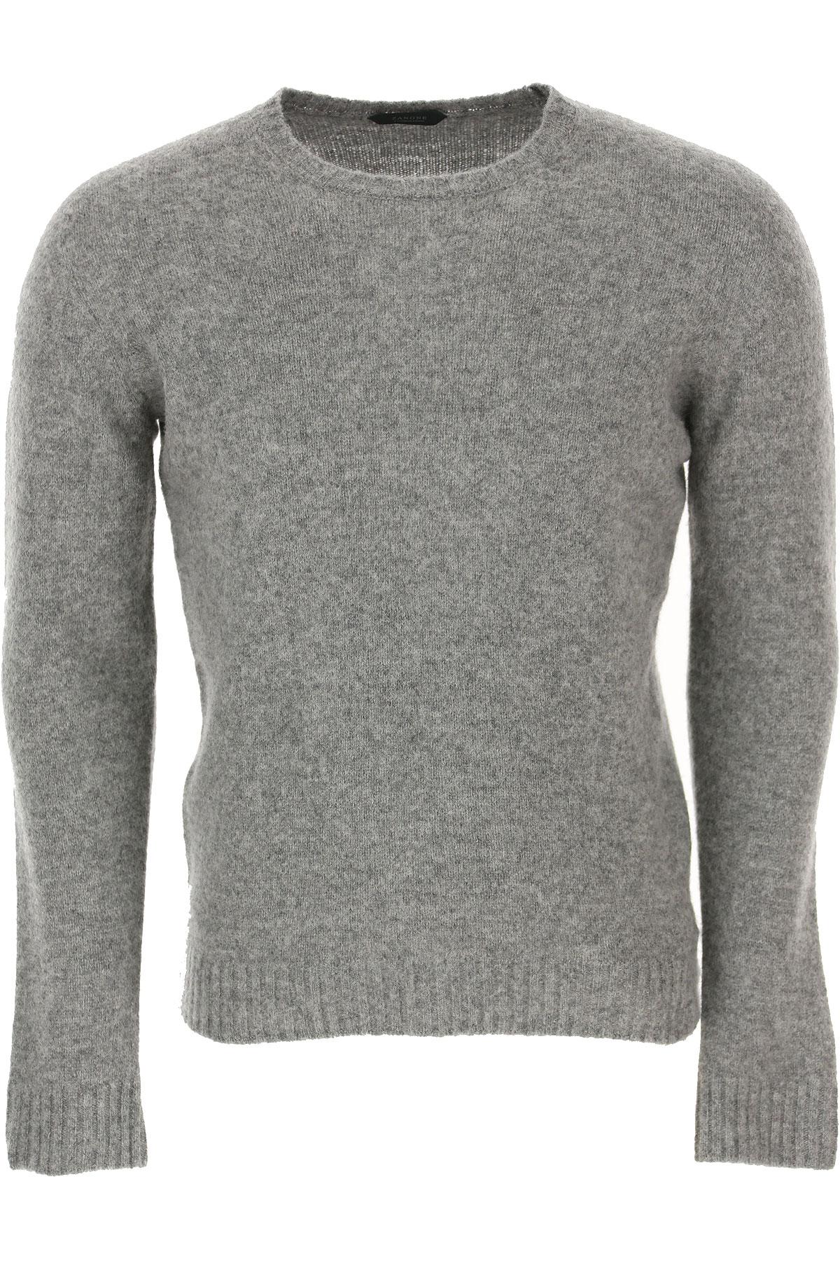 Zanone Sweater for Men Jumper On Sale, Grey Light, Virgin wool, 2019, L M XL XXL