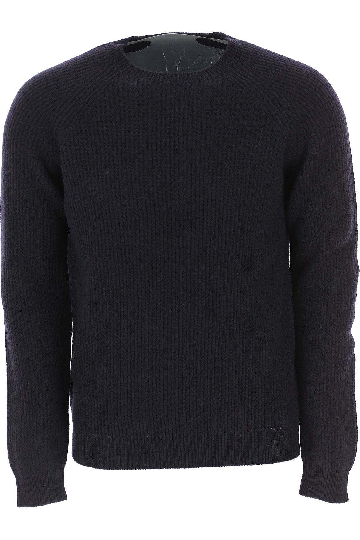 Zanone Sweater for Men Jumper On Sale, Navy Blue, Wool, 2019, XL XXL XXXL