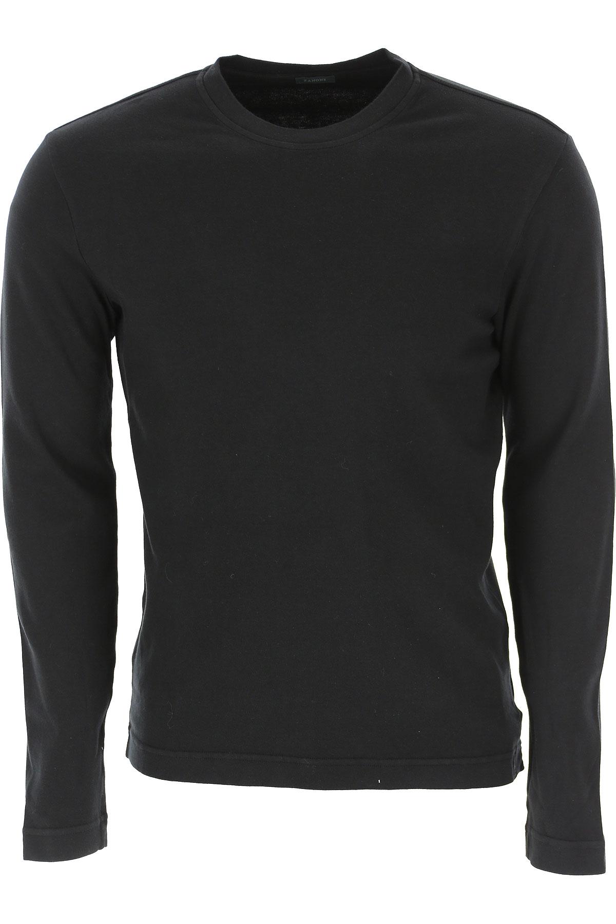 Zanone T-Shirt for Men On Sale, Black, Cotton, 2019, L M XL