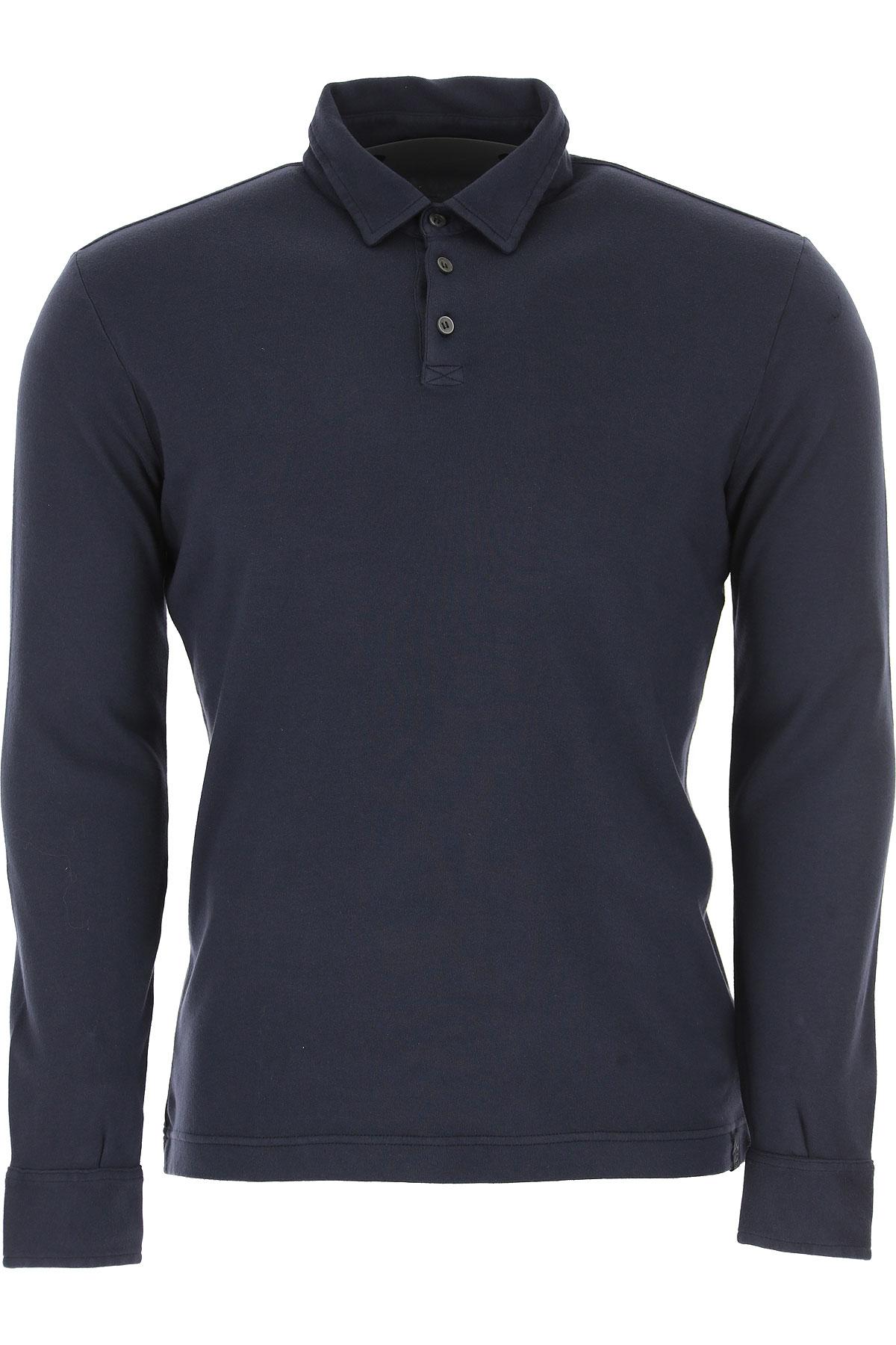 Image of Zanone Polo Shirt for Men, Dark Ocean Blue, Cotton, 2017, XL XXL XXXL