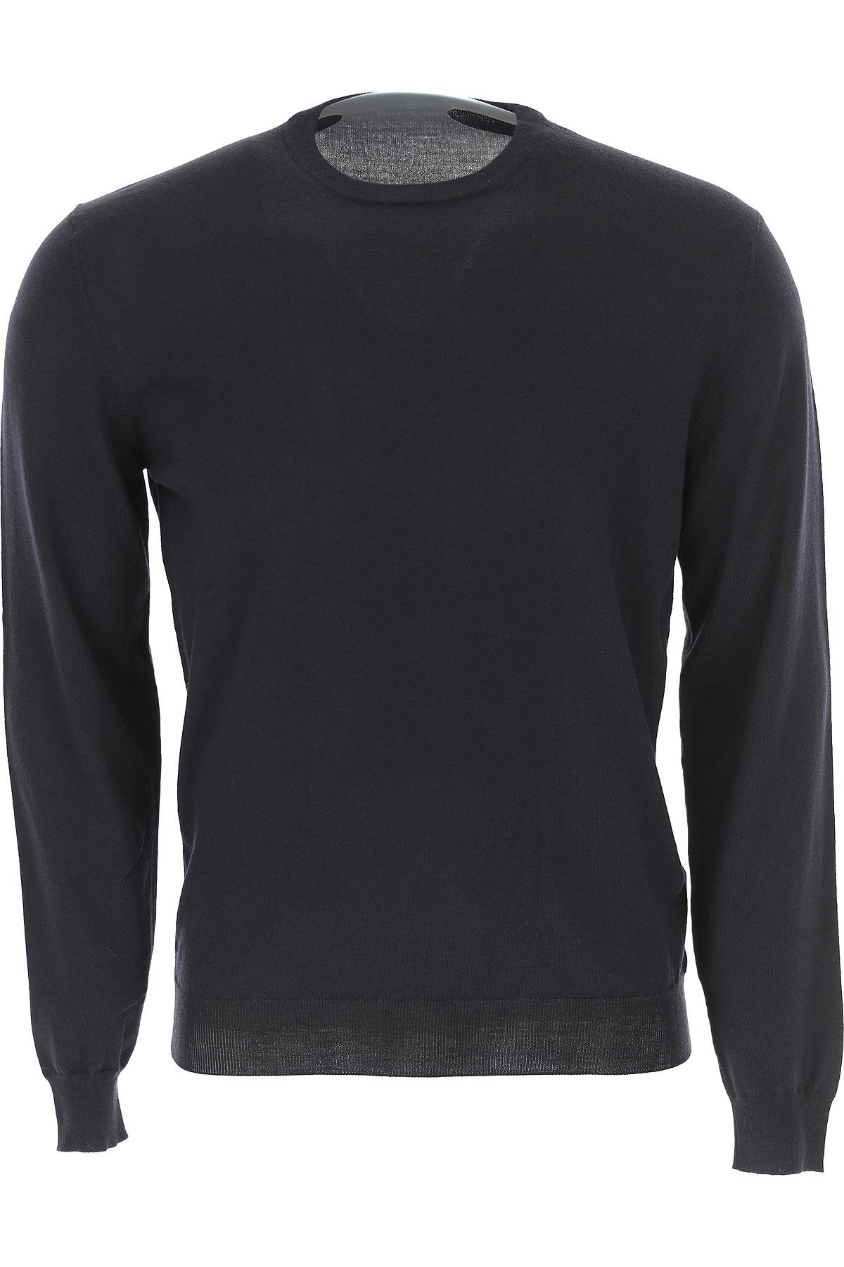 Image of Zanone Sweater for Men Jumper, Black, Wool, 2017, L M XL XXL XXXL